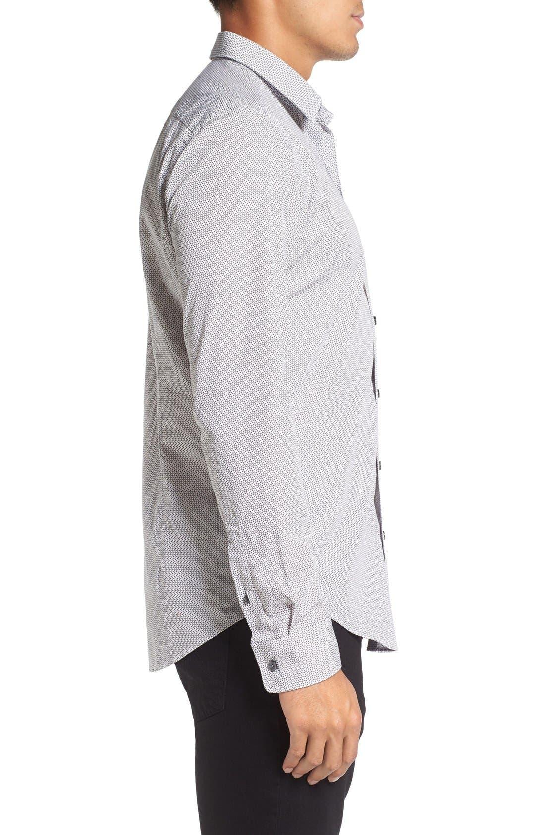 'Robbie' Sharp Fit Graphic Print Sport Shirt,                             Alternate thumbnail 3, color,                             069