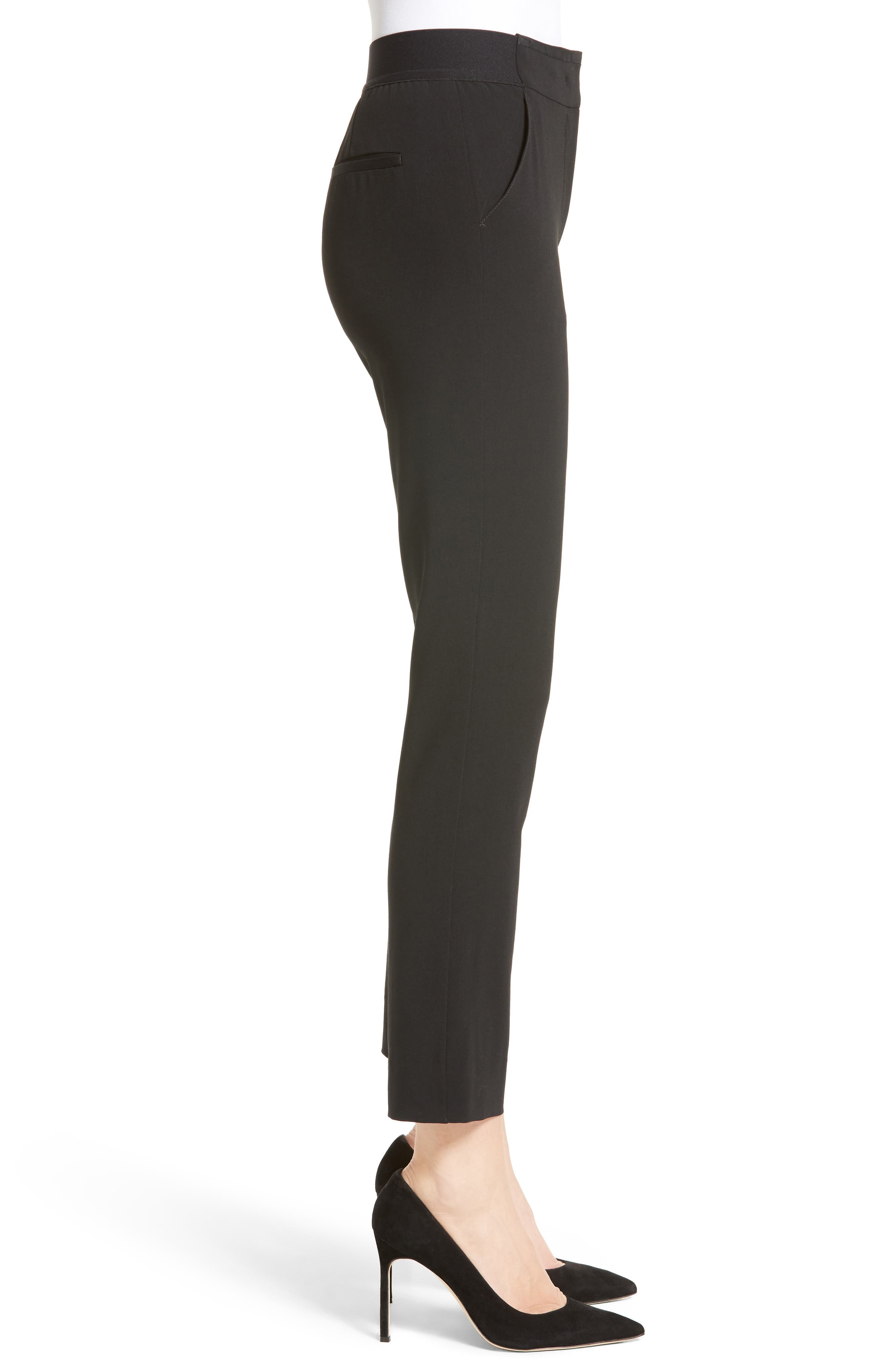 Stretch Wool Pants,                             Alternate thumbnail 3, color,                             004