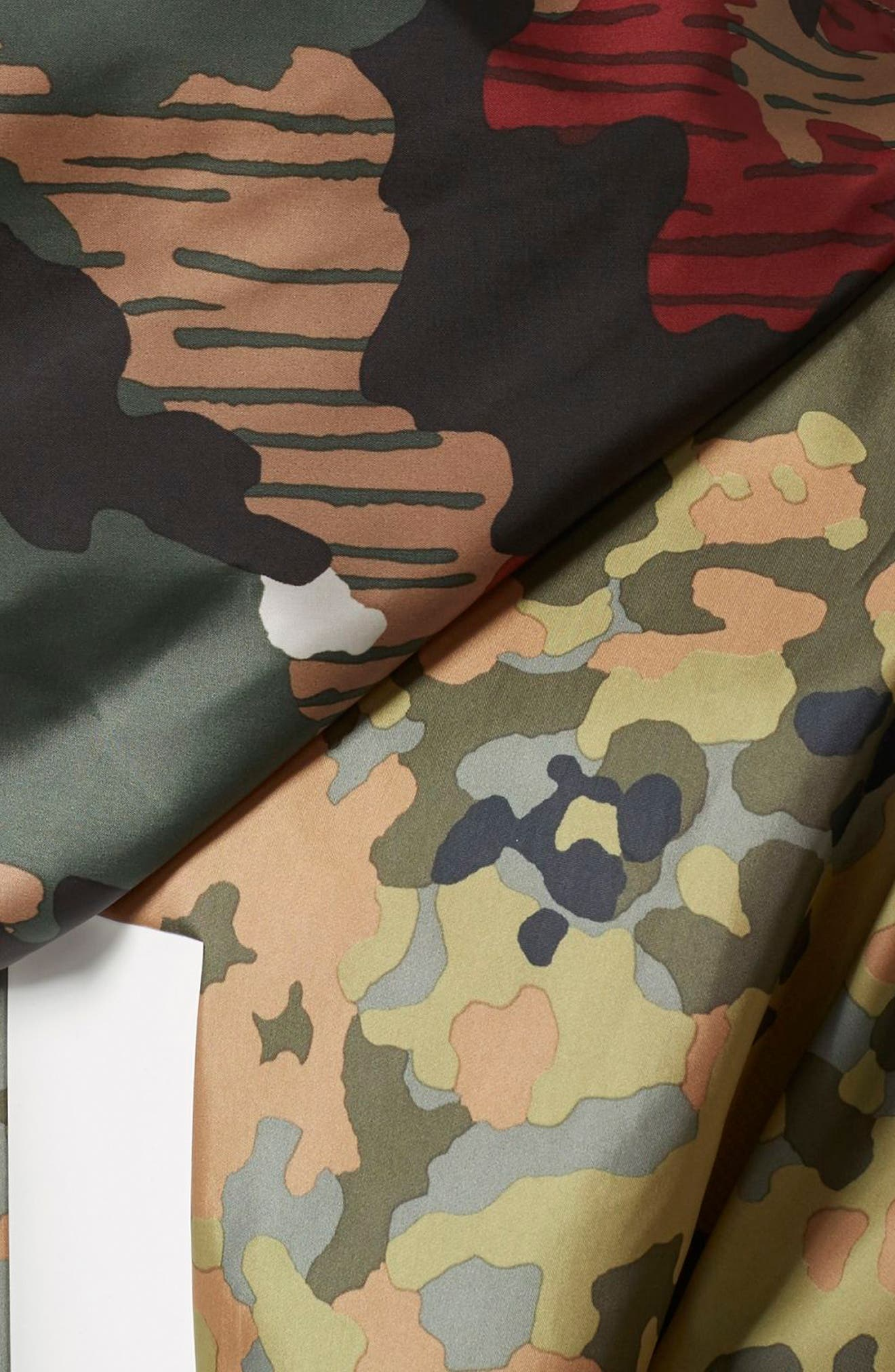 Originals by Pharrell Williams HU Hiking Camo Logo Windbreaker,                             Alternate thumbnail 5, color,                             300