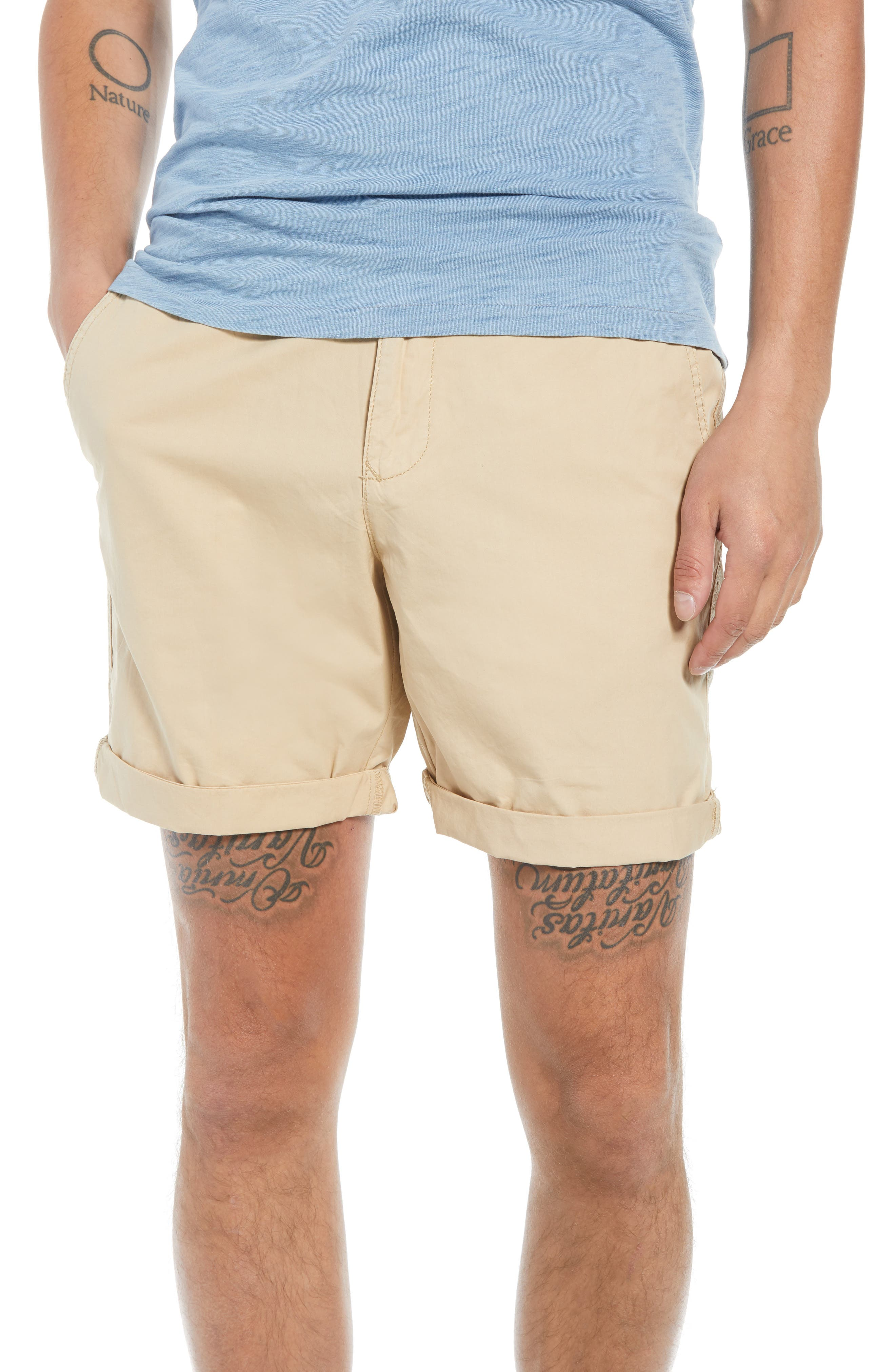 Washed Cuffed Shorts,                         Main,                         color, 260