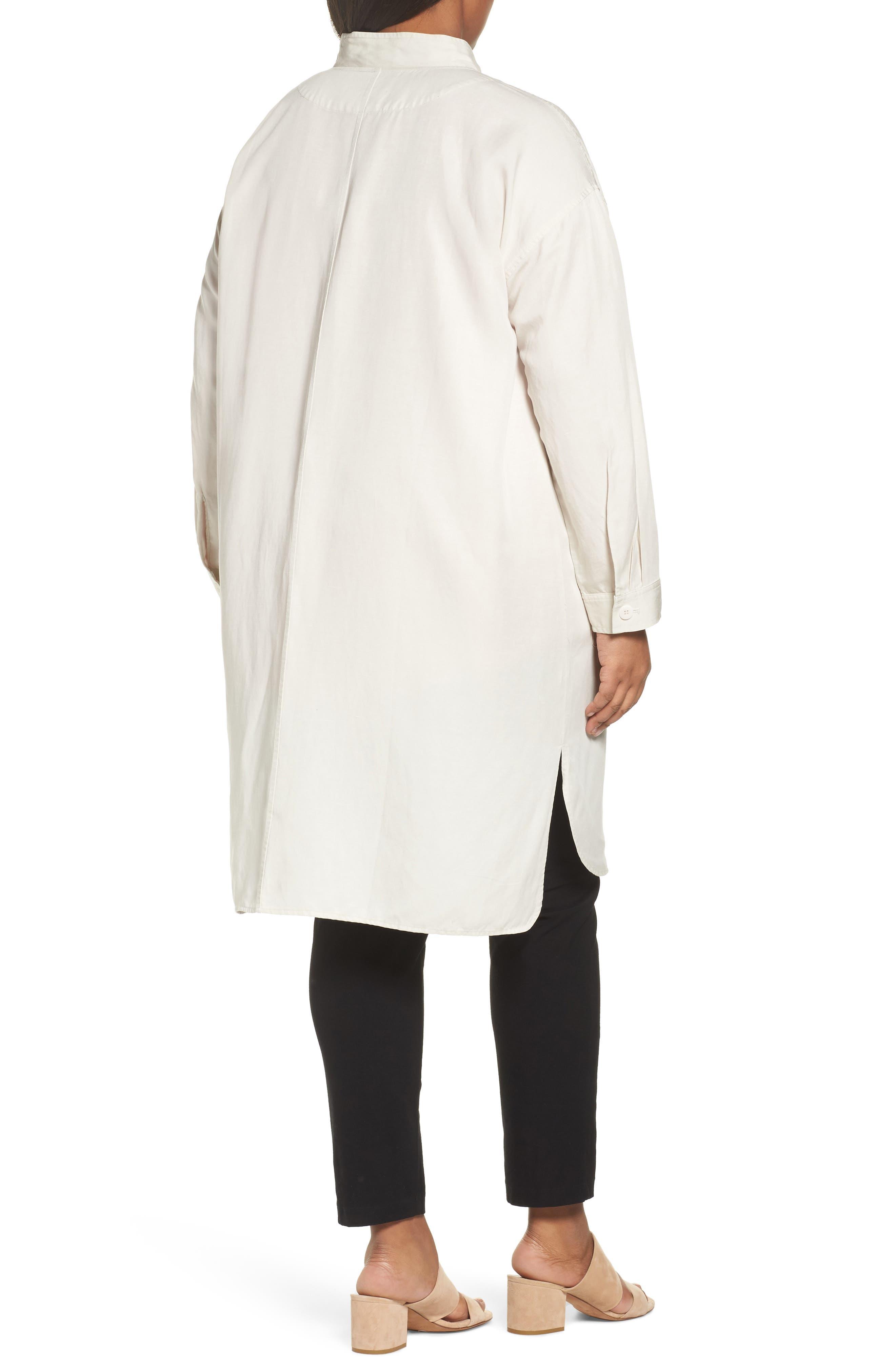 Long Tencel<sup>®</sup> Lyocell & Linen Jacket,                             Alternate thumbnail 4, color,