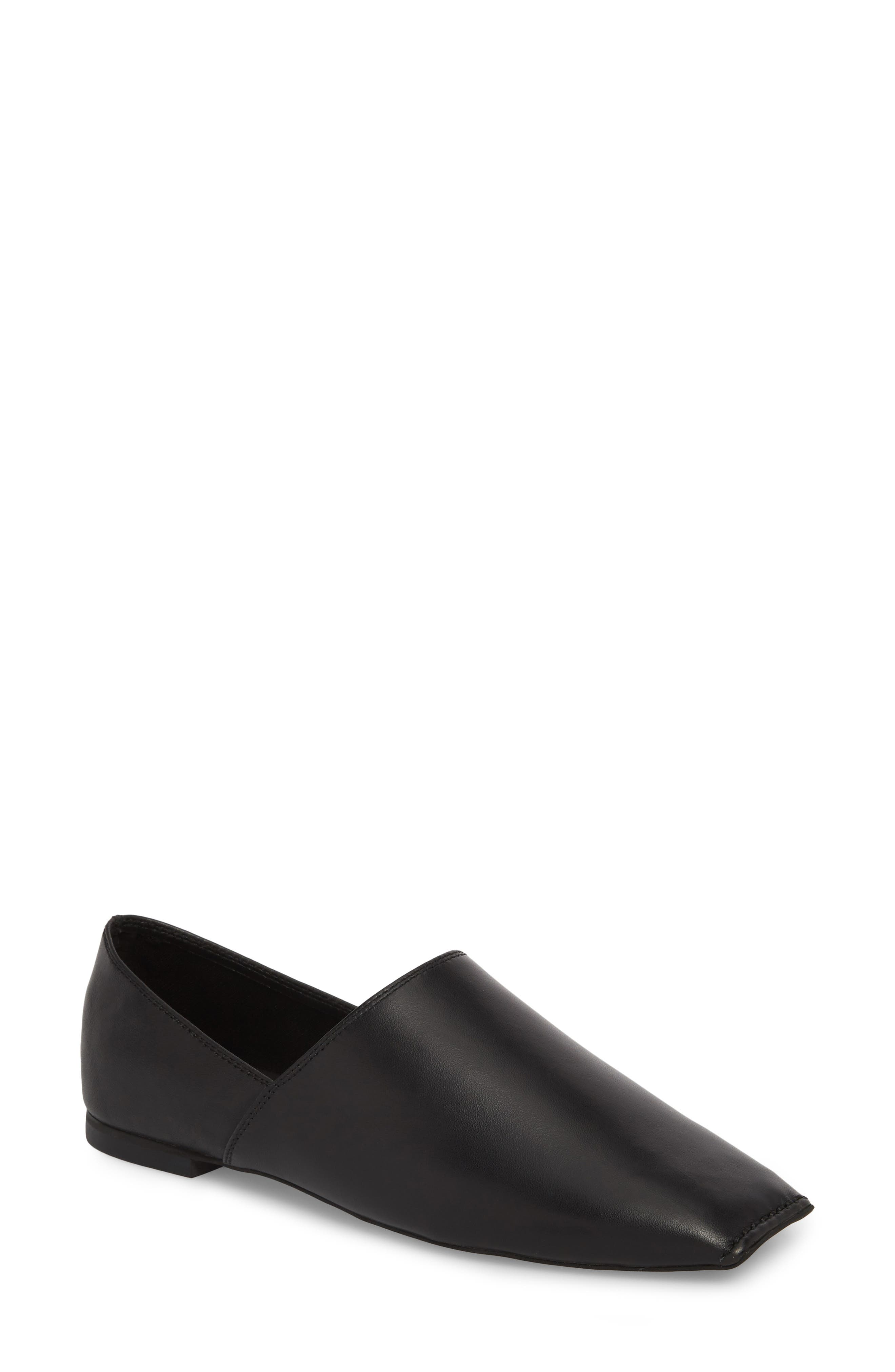 JEFFREY CAMPBELL Lanvale Blunted Toe Flat, Main, color, 001
