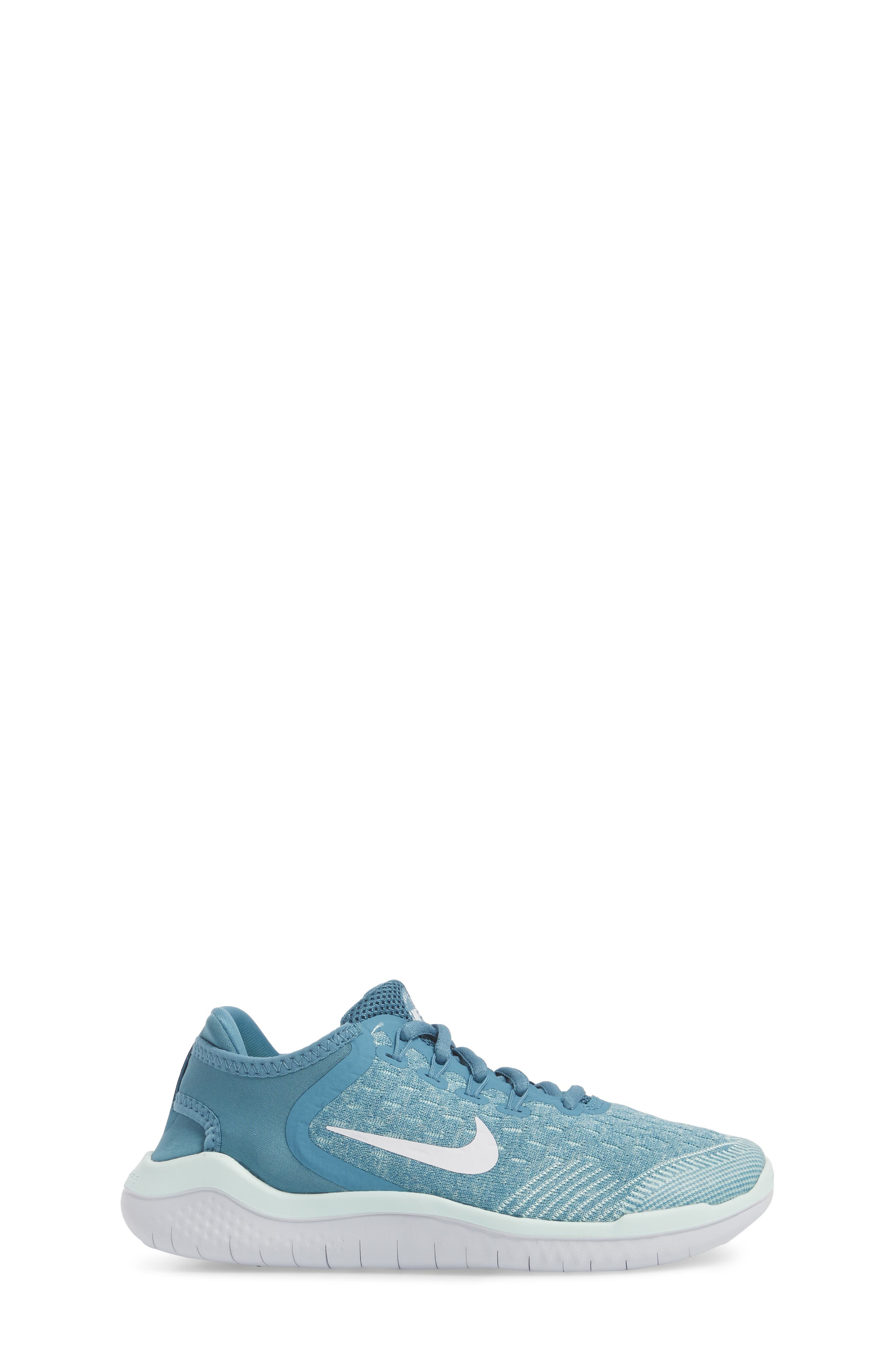 Free RN 2018 Running Shoe,                             Alternate thumbnail 3, color,                             AQUA/ WHITE/ PURE PLATINUM