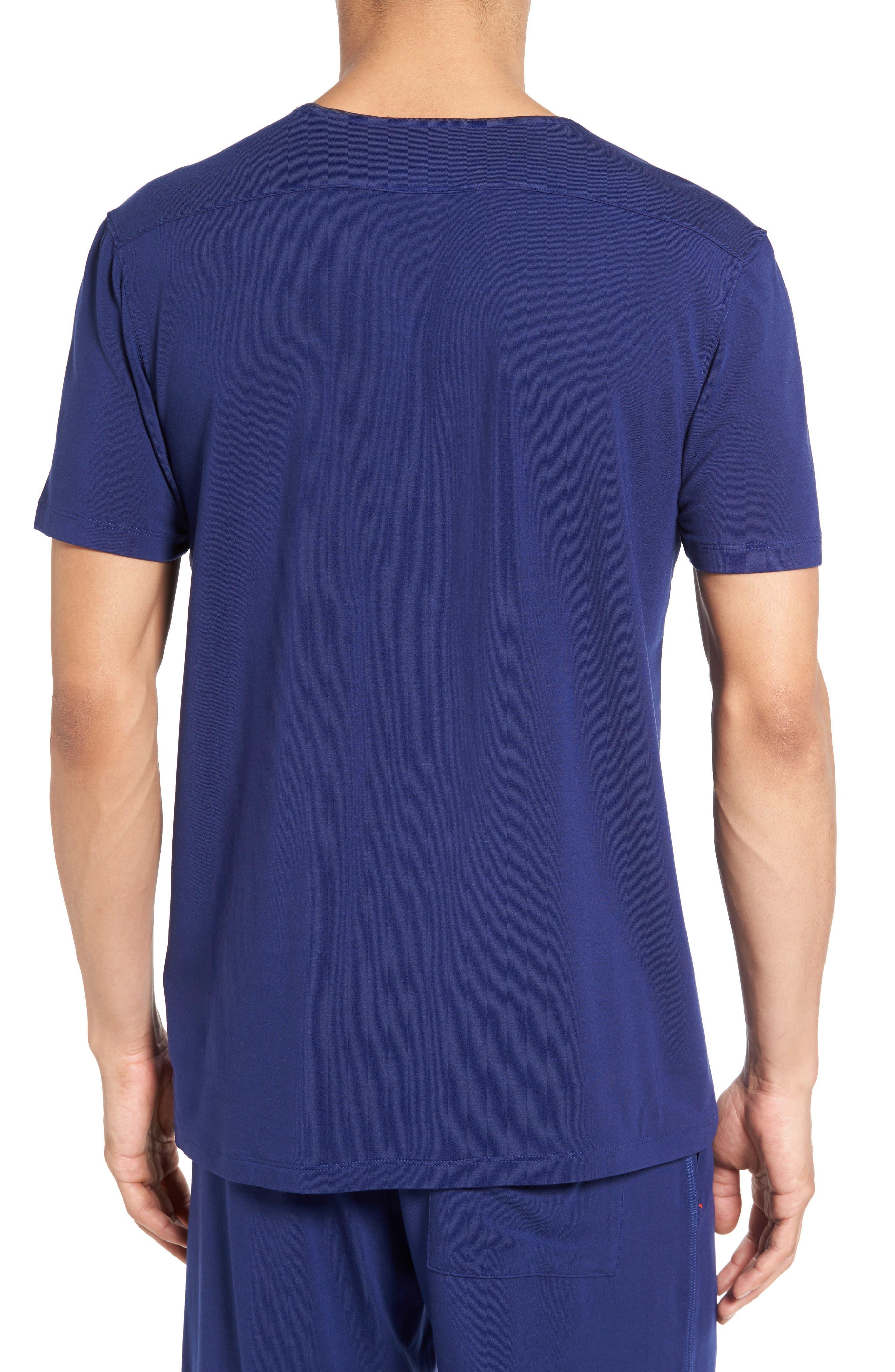 V-Neck Stretch Modal T-Shirt,                             Alternate thumbnail 2, color,                             413