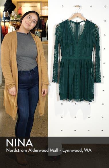 Long Sleeve V-Neck Lace Dress, sales video thumbnail