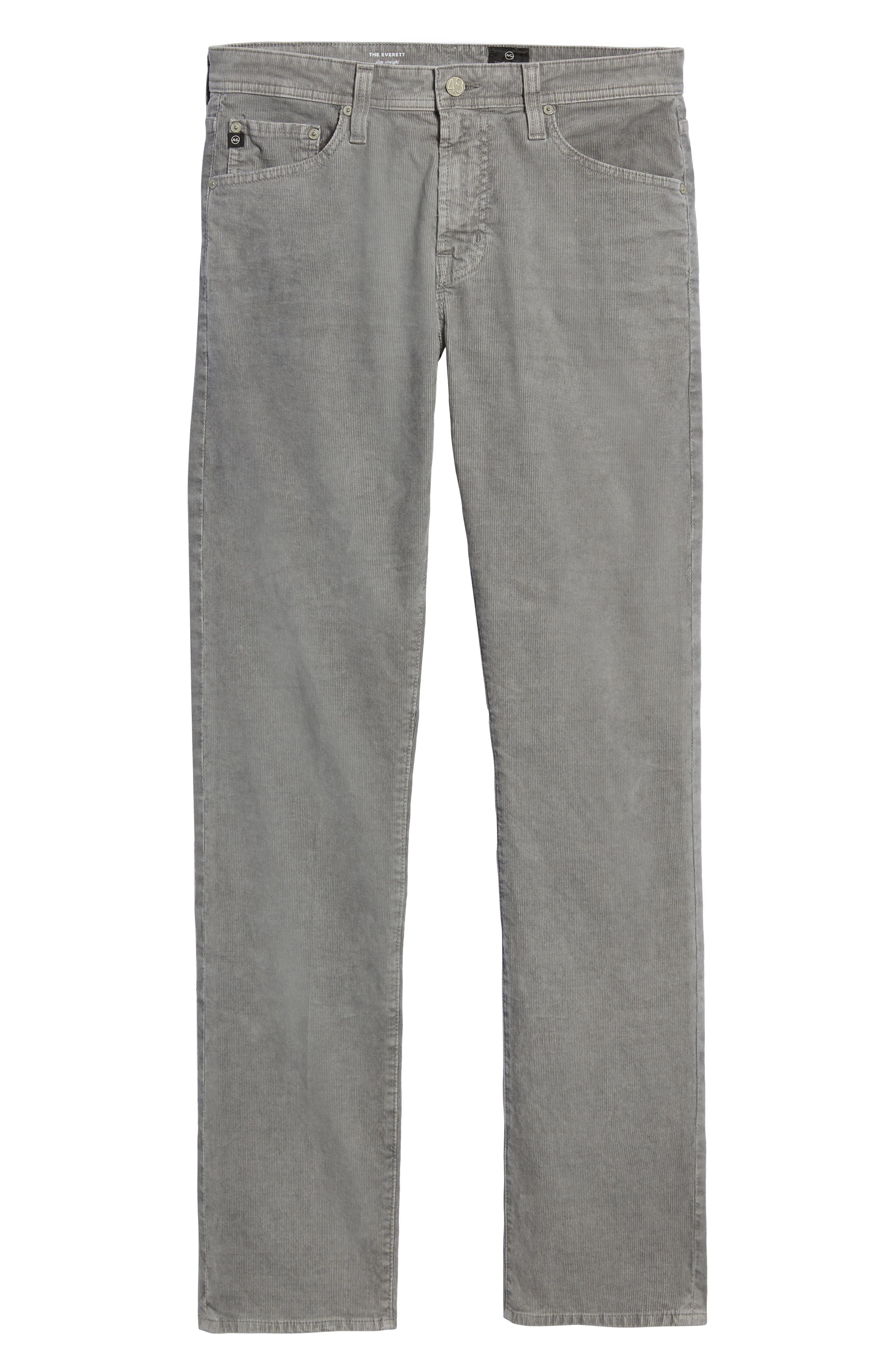 Everett Straight Leg Corduroy Pants,                             Alternate thumbnail 6, color,                             SULFUR AUTUMN FOG