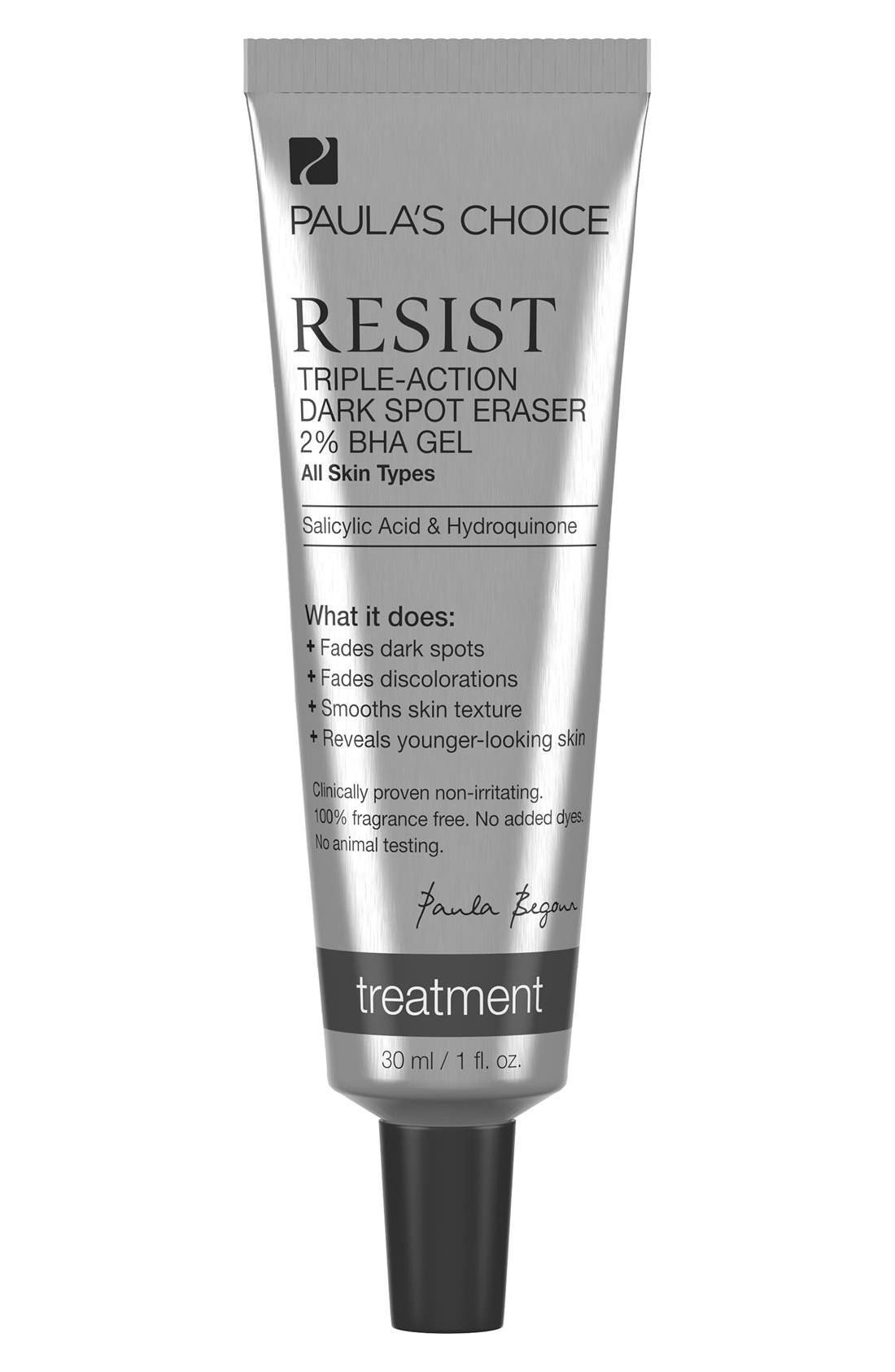 Resist Triple Action Dark Spot Eraser 2% BHA Gel,                             Main thumbnail 1, color,                             NO COLOR