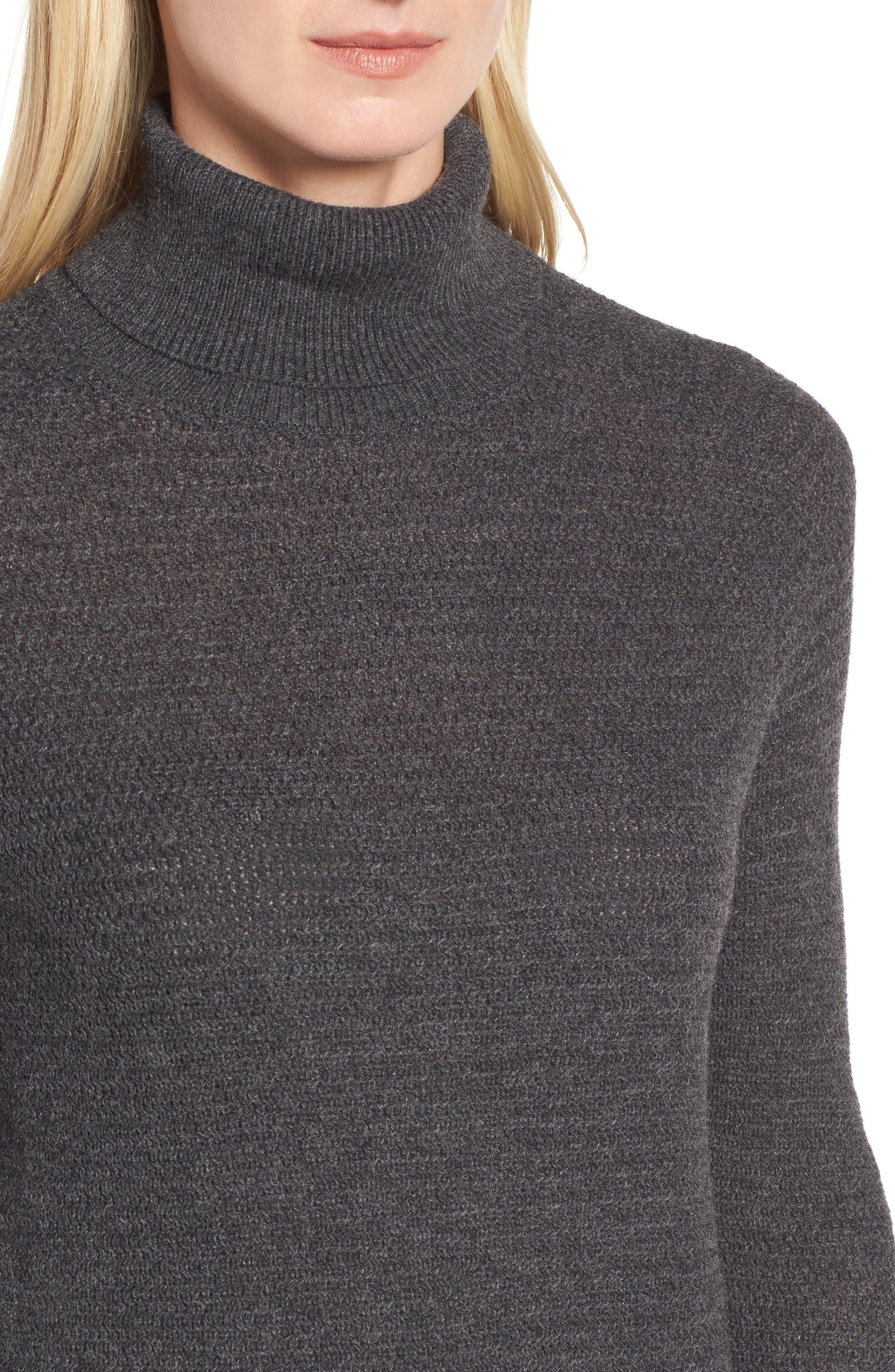 Turtleneck Tunic Sweater,                             Alternate thumbnail 4, color,                             021
