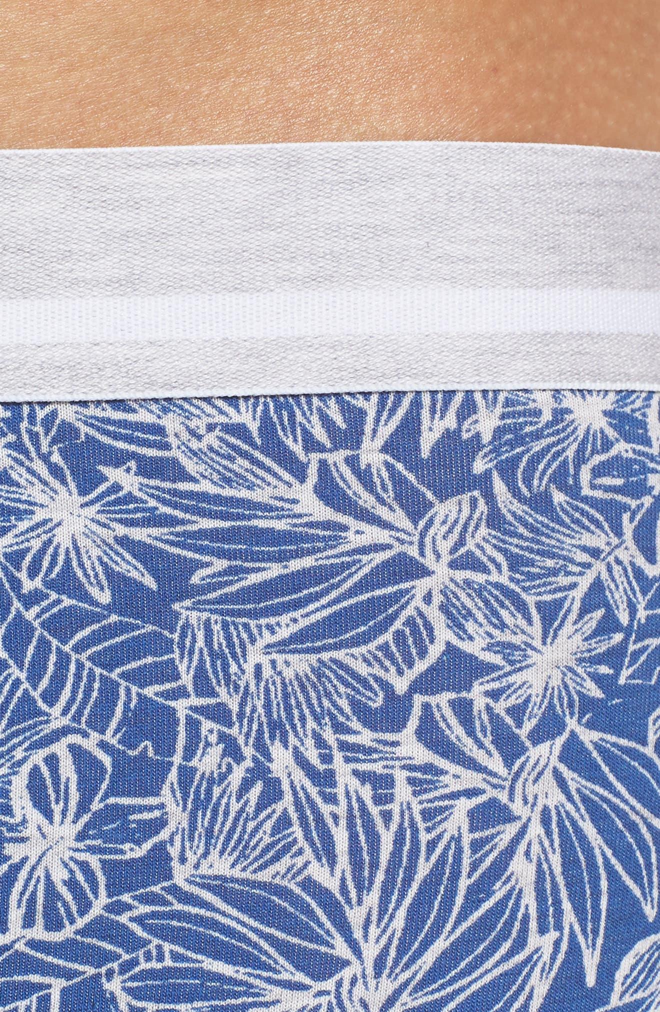 Palm Print Boxer Briefs,                             Alternate thumbnail 4, color,                             BLUE