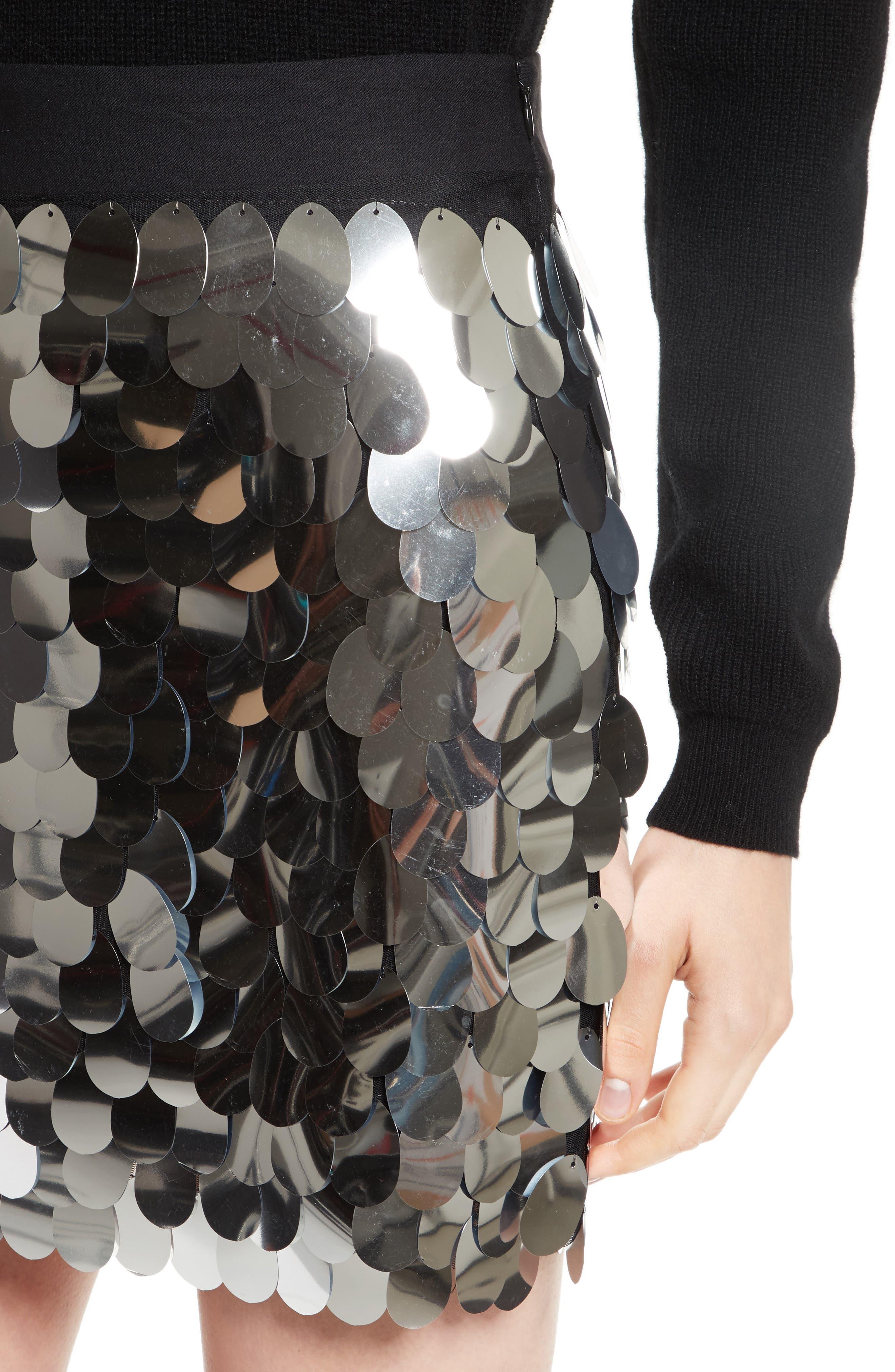 Paillette Sequin Miniskirt,                             Alternate thumbnail 4, color,
