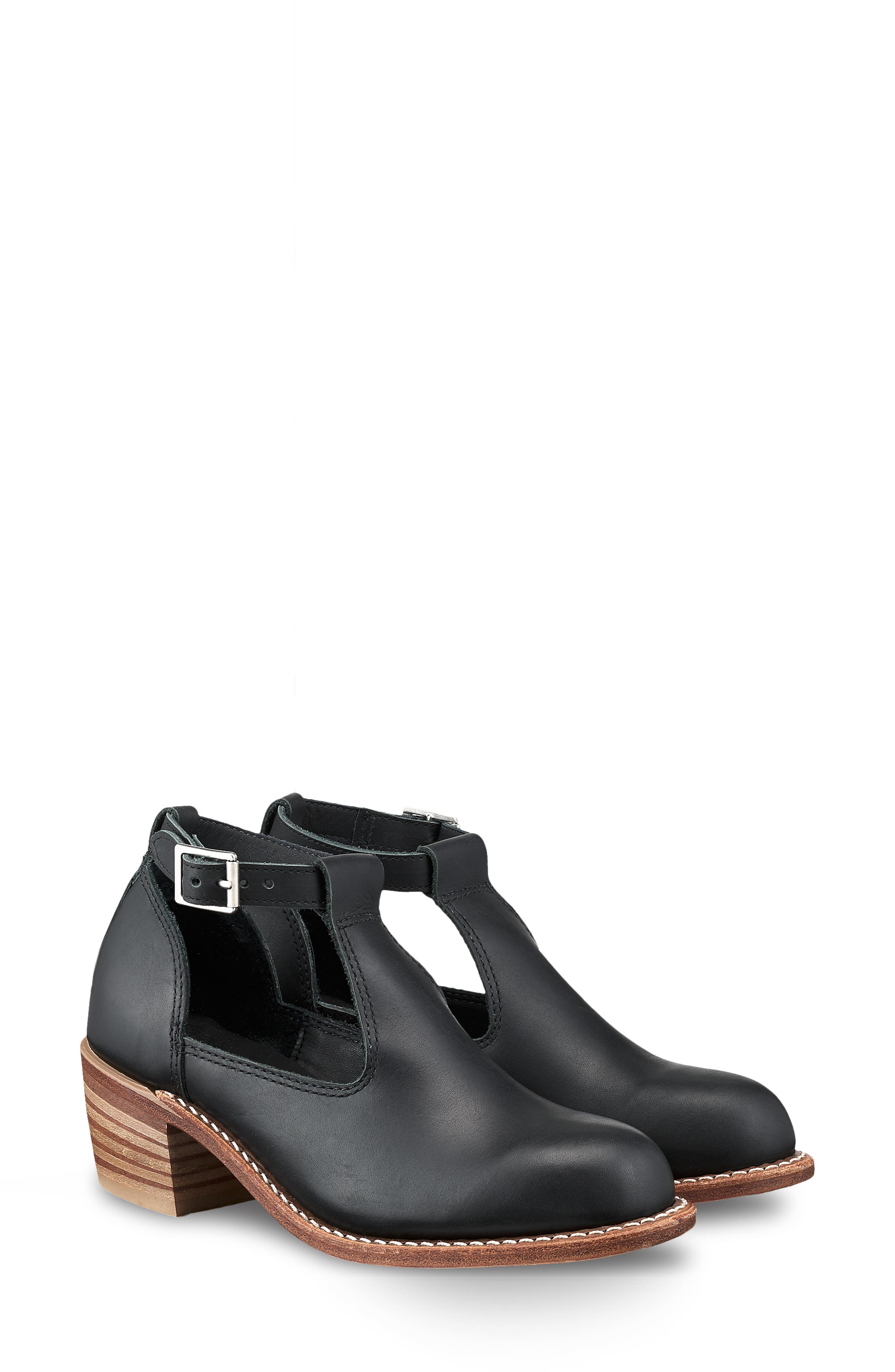RED WING,                             Ida Cutout Bootie,                             Main thumbnail 1, color,                             BLACK BOUNDARY LEATHER