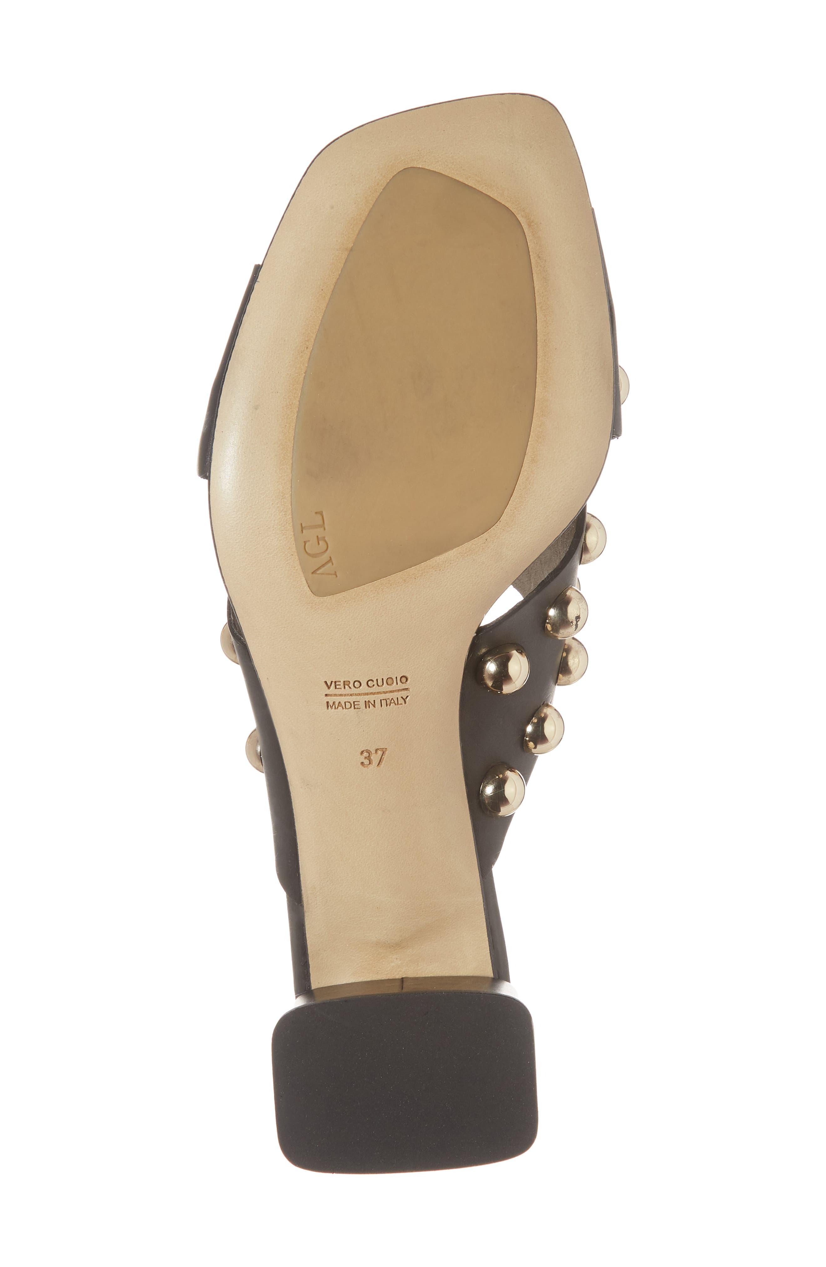 Studded Slide Sandal,                             Alternate thumbnail 6, color,                             001