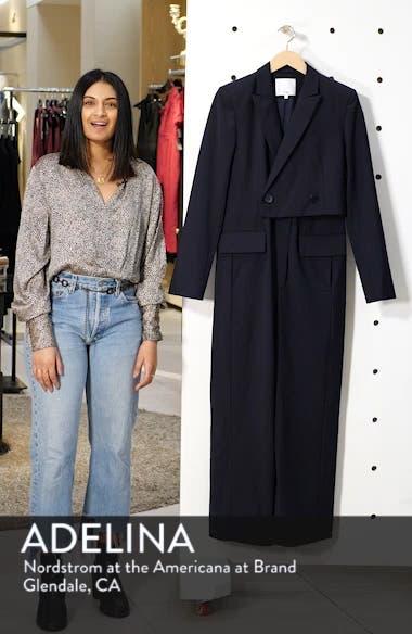 Plain Weave Blazer Jumpsuit, sales video thumbnail