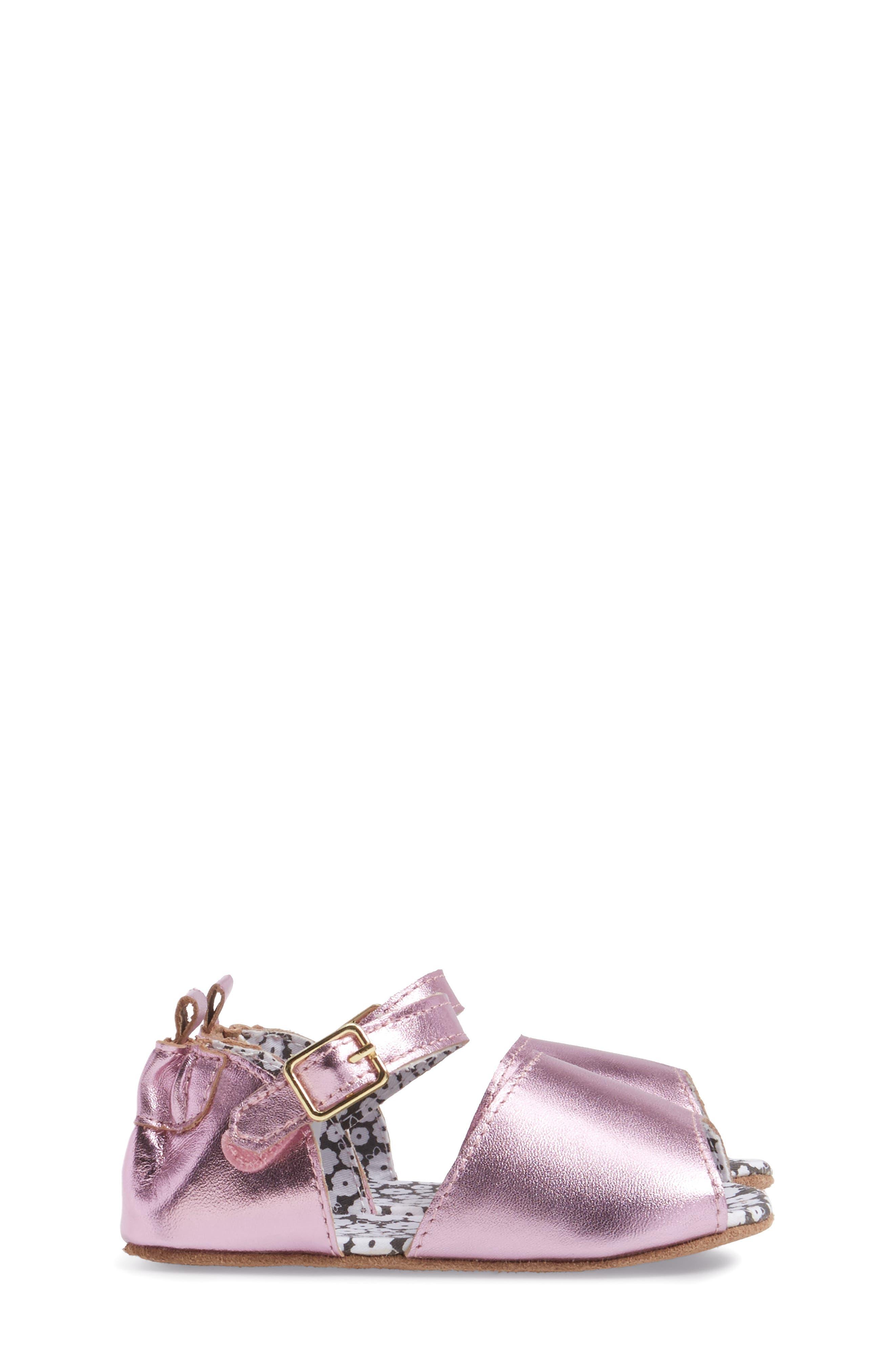 Sophie Crib Shoe,                             Alternate thumbnail 3, color,                             COBBLESTONE