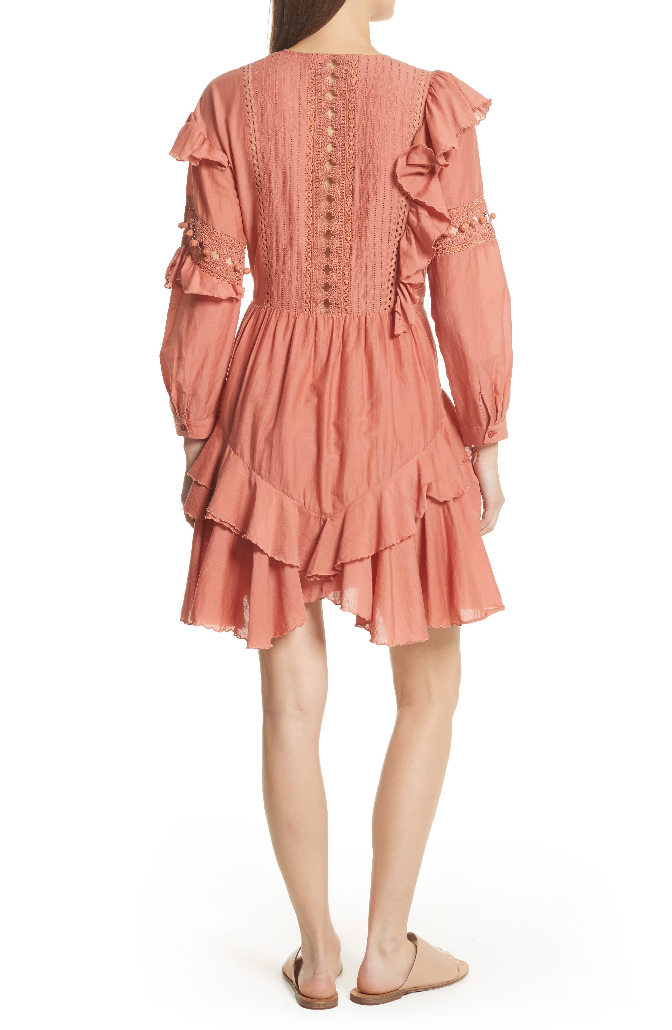 Weatherly Crochet Pompom Dress,                             Alternate thumbnail 2, color,