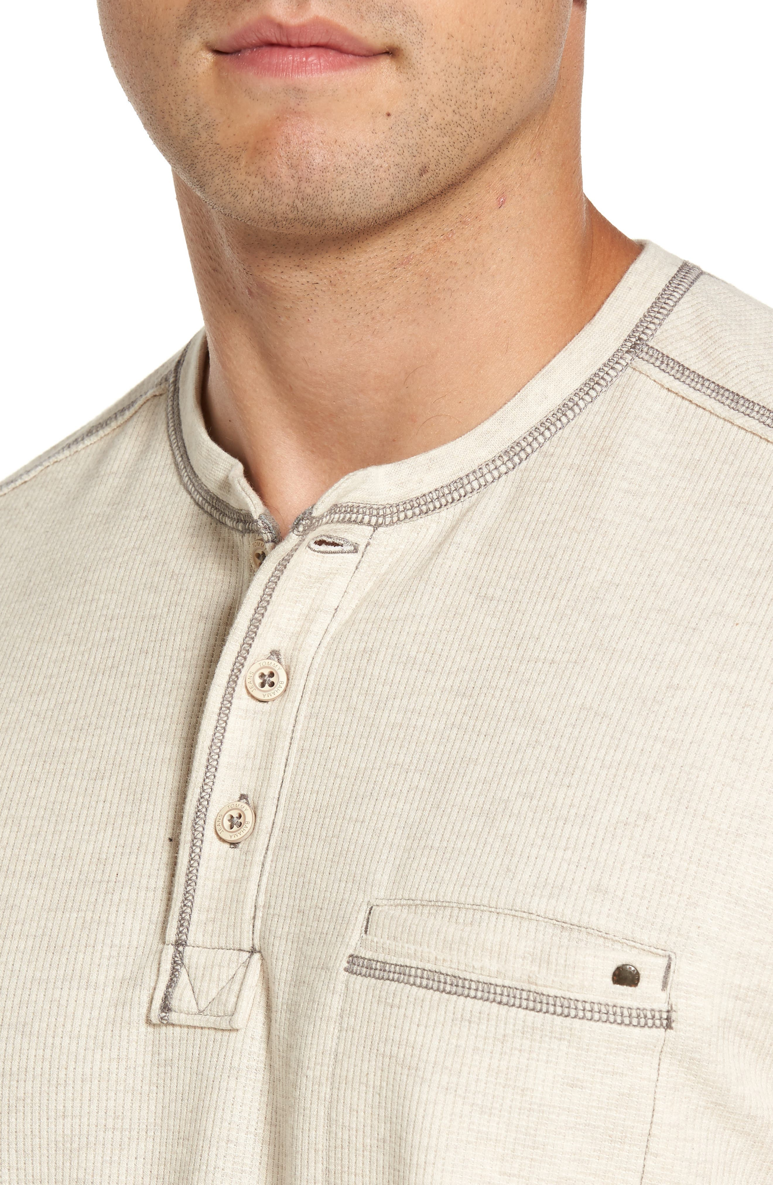 Island Thermal Standard Fit Thermal Henley,                             Alternate thumbnail 4, color,                             ABALONE HEATHER