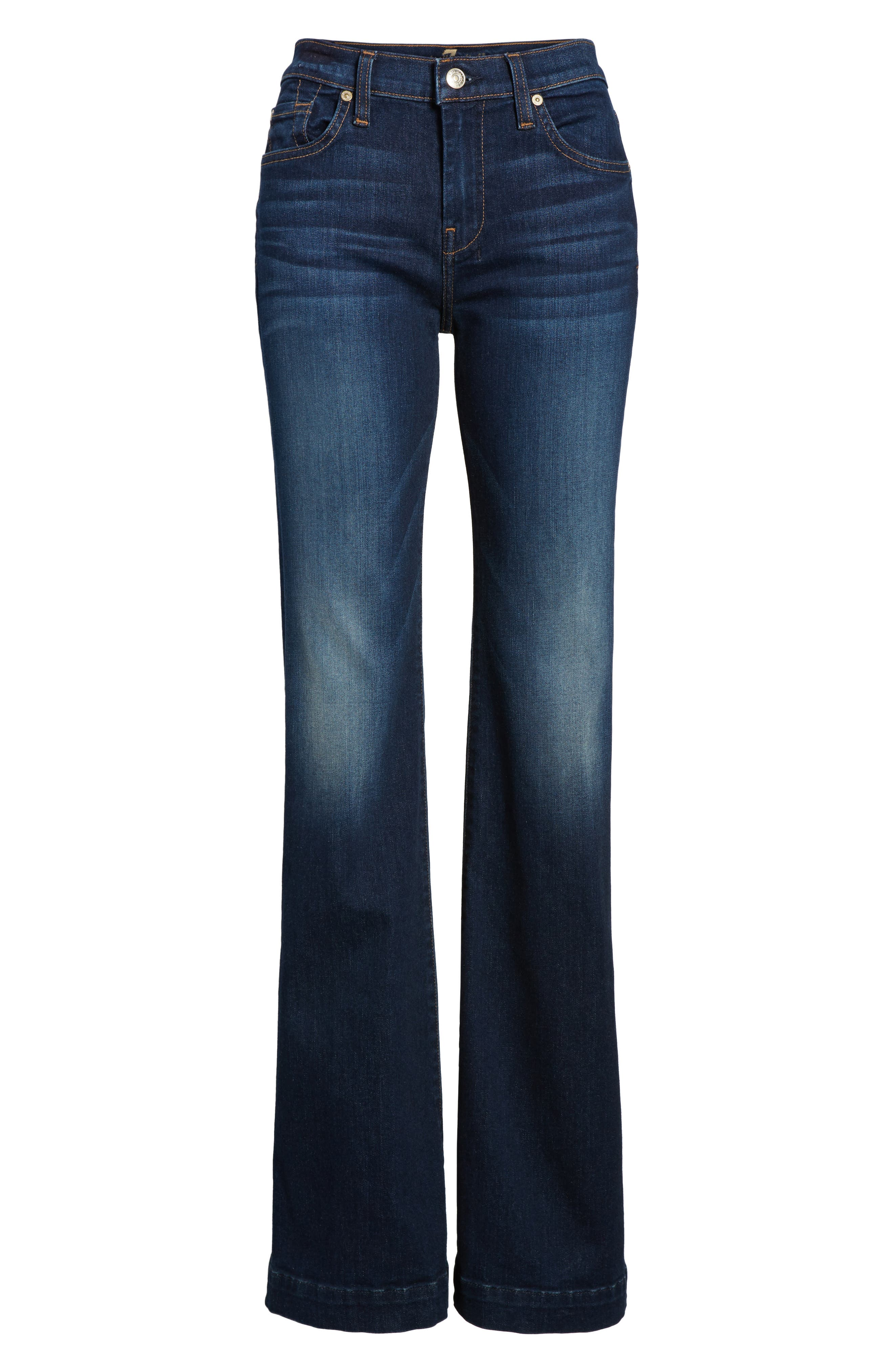 Dojo Wide Leg Jeans,                             Alternate thumbnail 7, color,                             MORENO