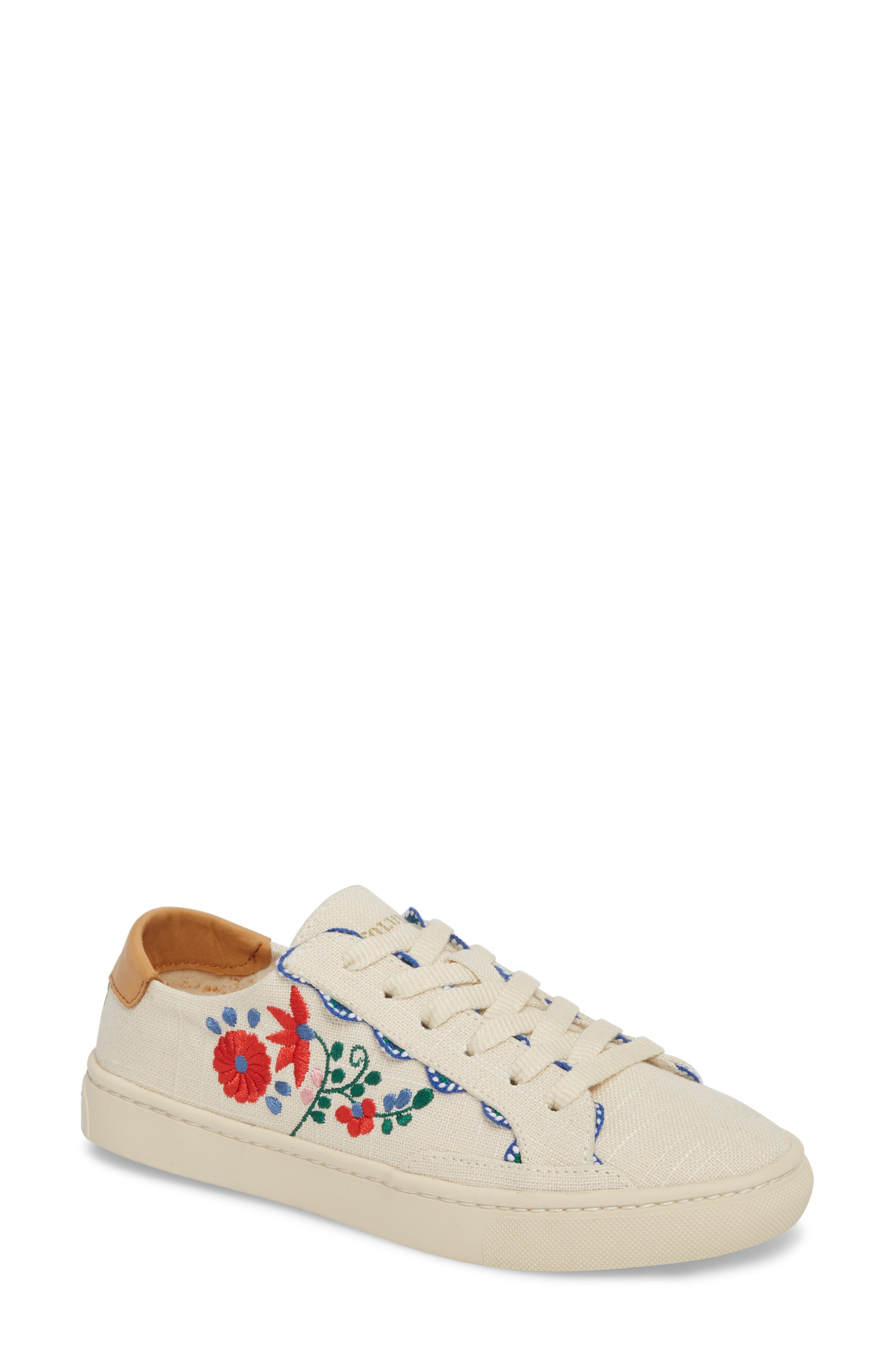 Ibiza Embroidered Sneaker,                             Main thumbnail 1, color,                             680