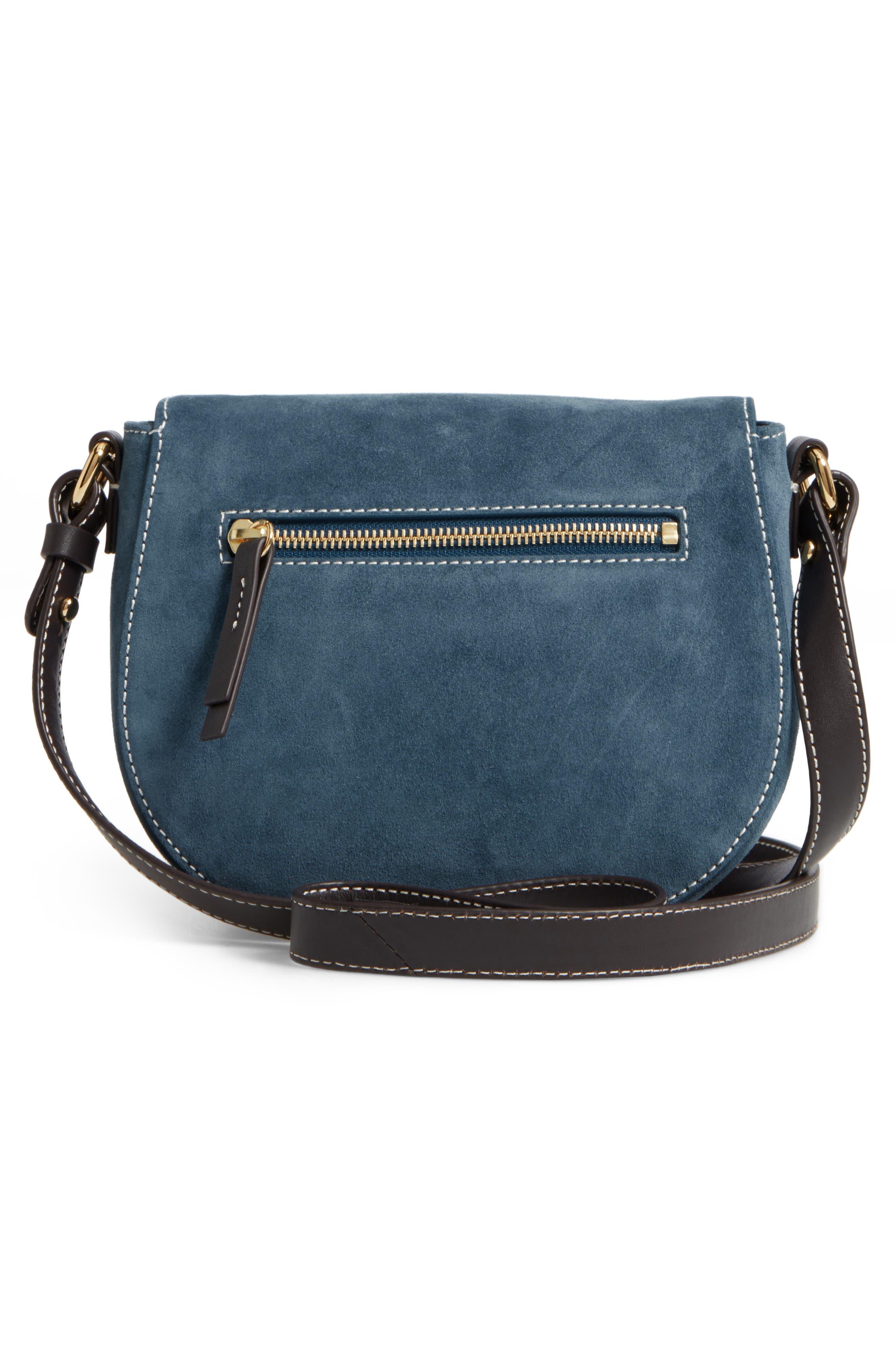 Mini Ellen Suede Crossbody Bag,                             Alternate thumbnail 8, color,