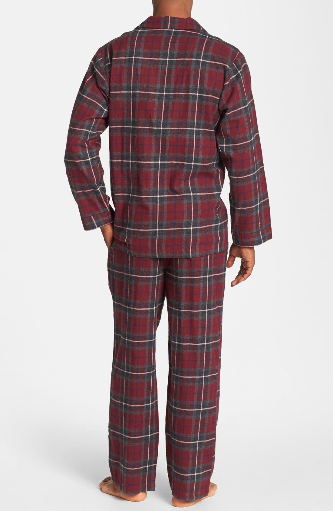 '824' Flannel Pajama Set,                             Alternate thumbnail 56, color,