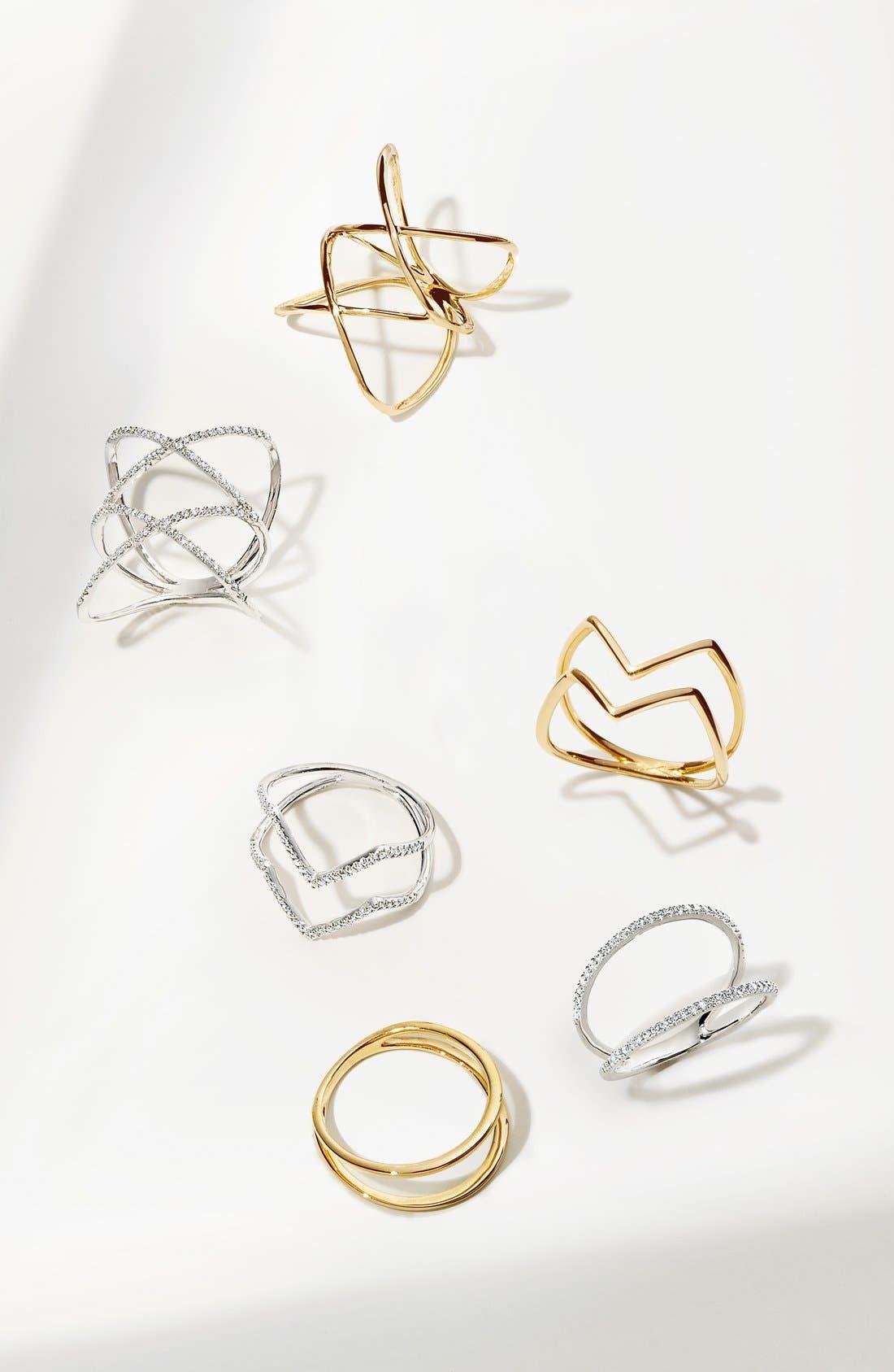 14KT Double Crisscross Ring,                             Alternate thumbnail 4, color,                             YELLOW GOLD