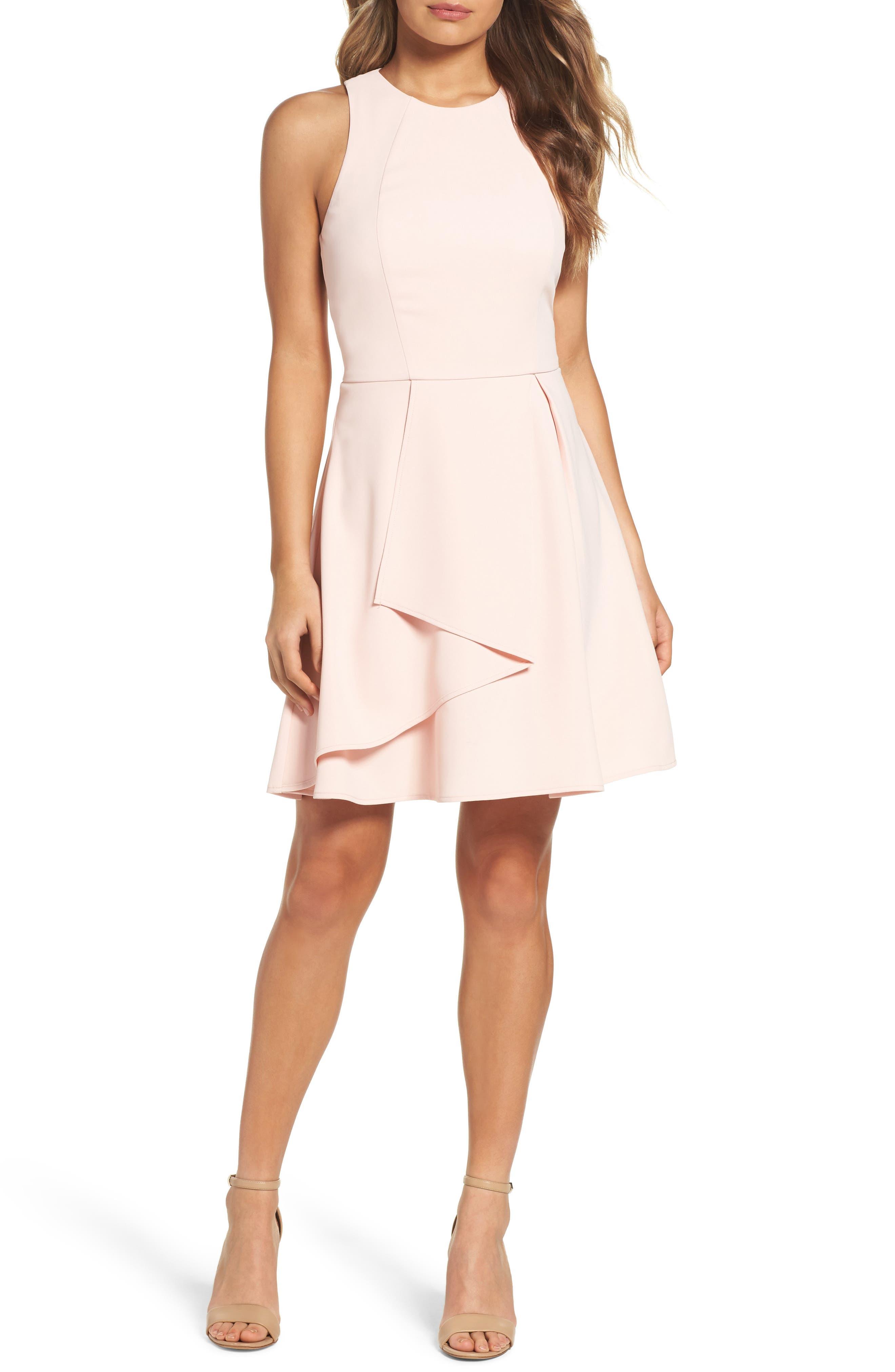 Athena Fit & Flare Dress,                             Main thumbnail 4, color,
