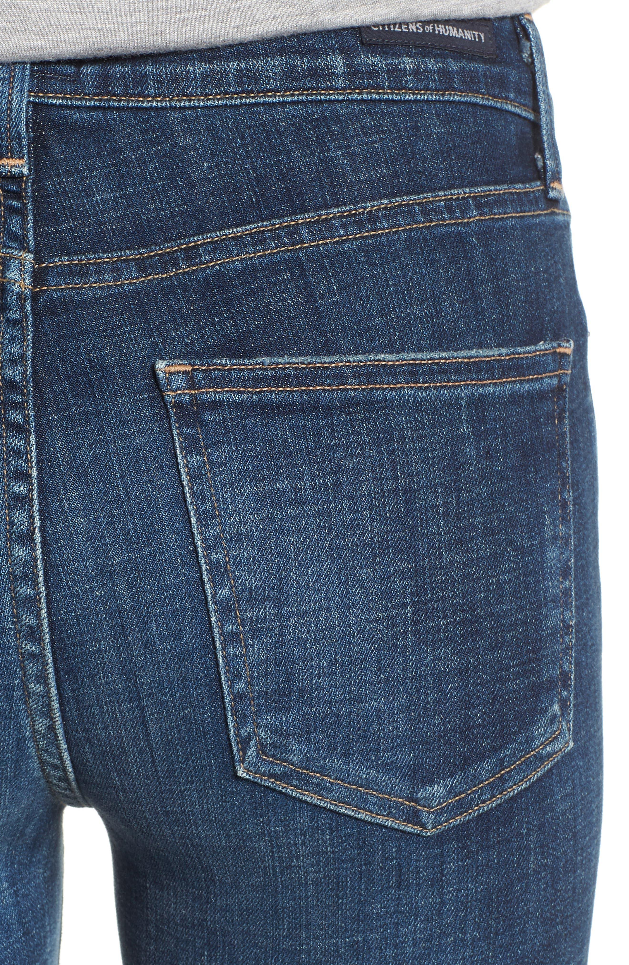 Rocket High Waist Skinny Jeans,                             Alternate thumbnail 4, color,                             428
