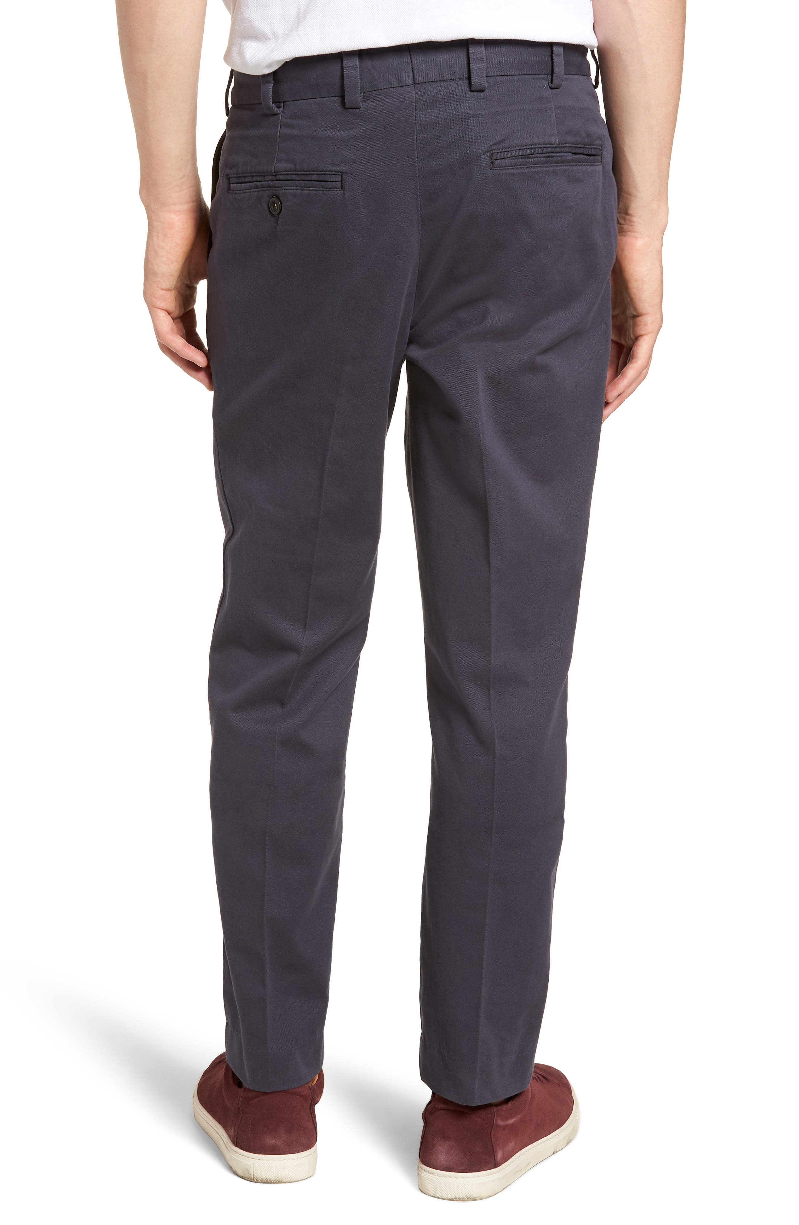 M3 Straight Fit Flat Front Vintage Twill Pants,                             Alternate thumbnail 2, color,
