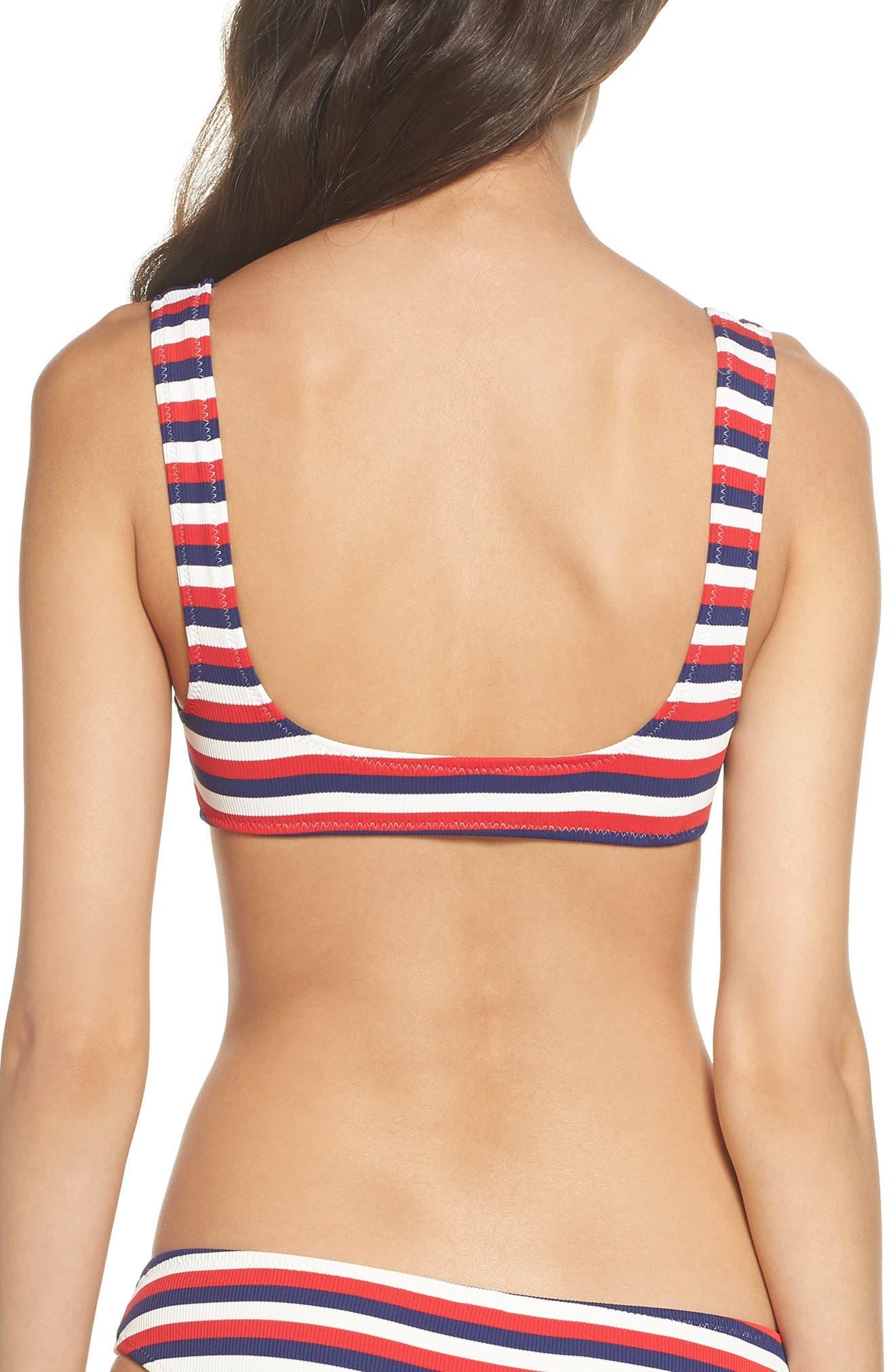 Elle Bikini Top,                             Alternate thumbnail 2, color,                             AMERICAN RIB