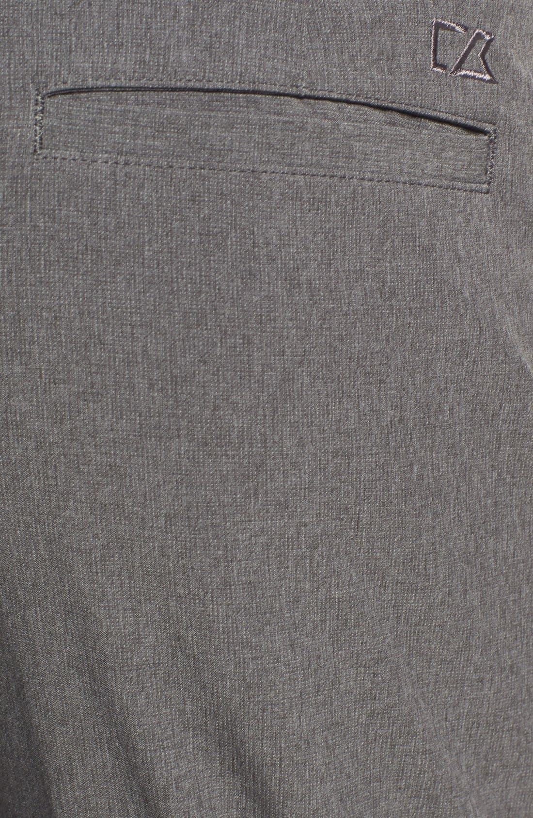 CUTTER & BUCK,                             'Bainbridge' DryTec Flat Front Pants,                             Alternate thumbnail 3, color,                             IRON GREY