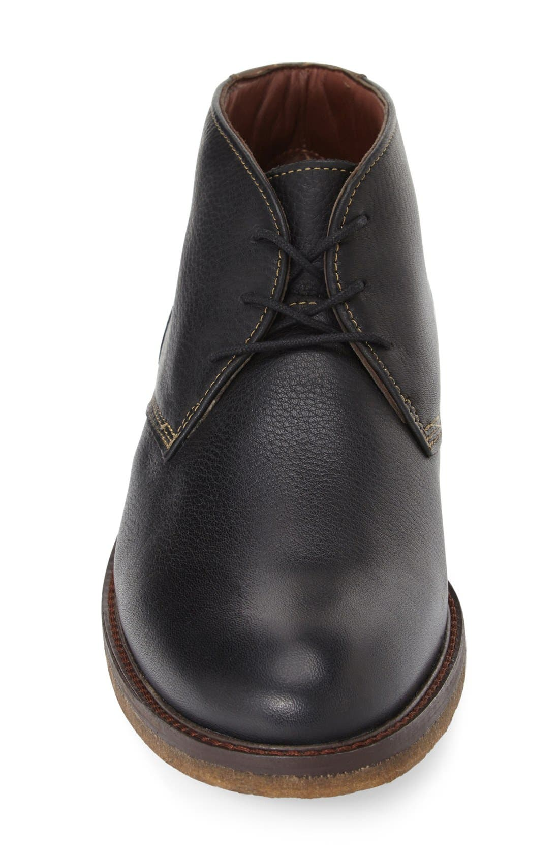 'Copeland' Suede Chukka Boot,                             Alternate thumbnail 3, color,                             BLACK LEATHER