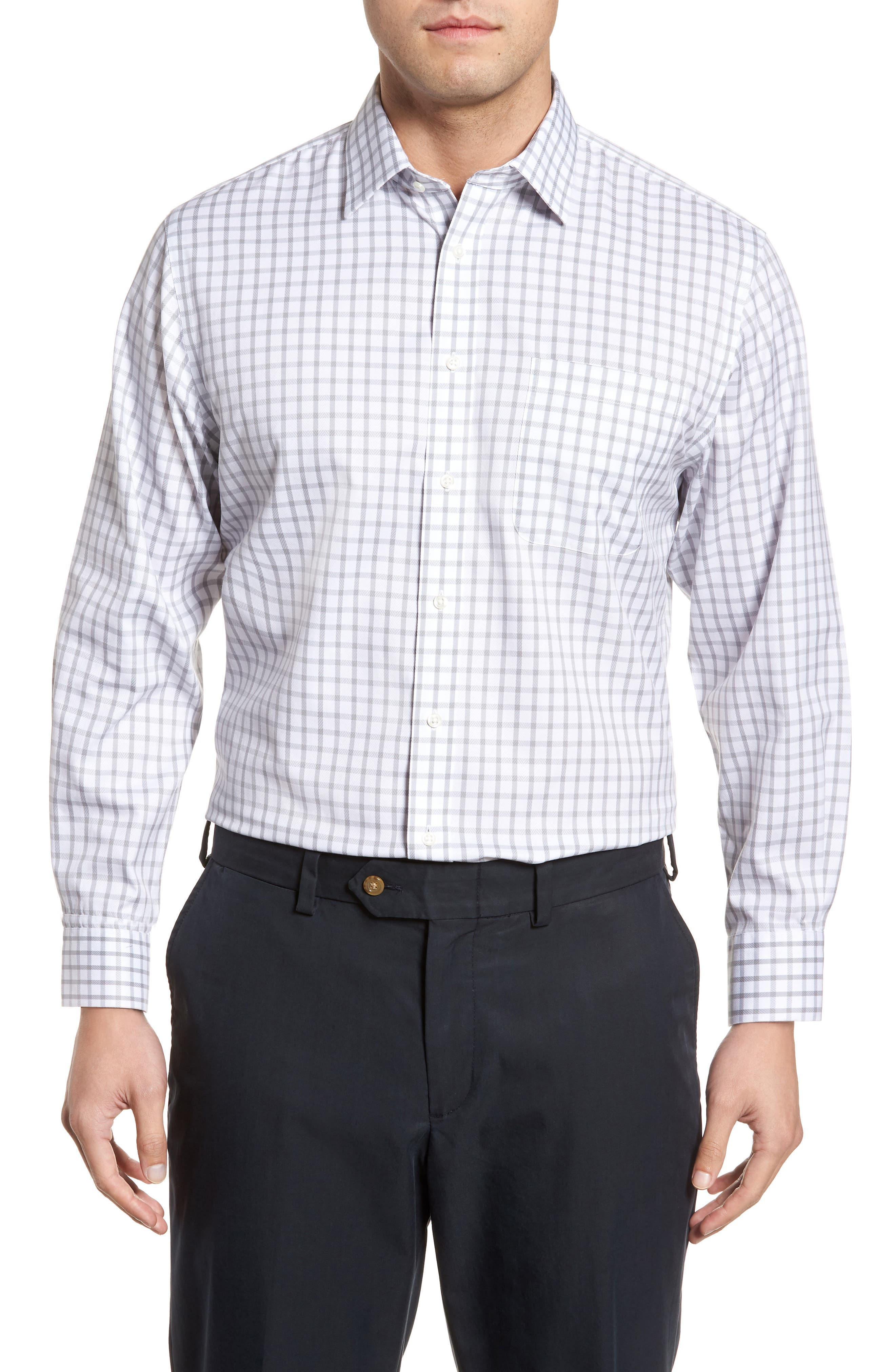 Smartcare<sup>™</sup> Traditional Fit Check Dress Shirt,                             Main thumbnail 1, color,                             050
