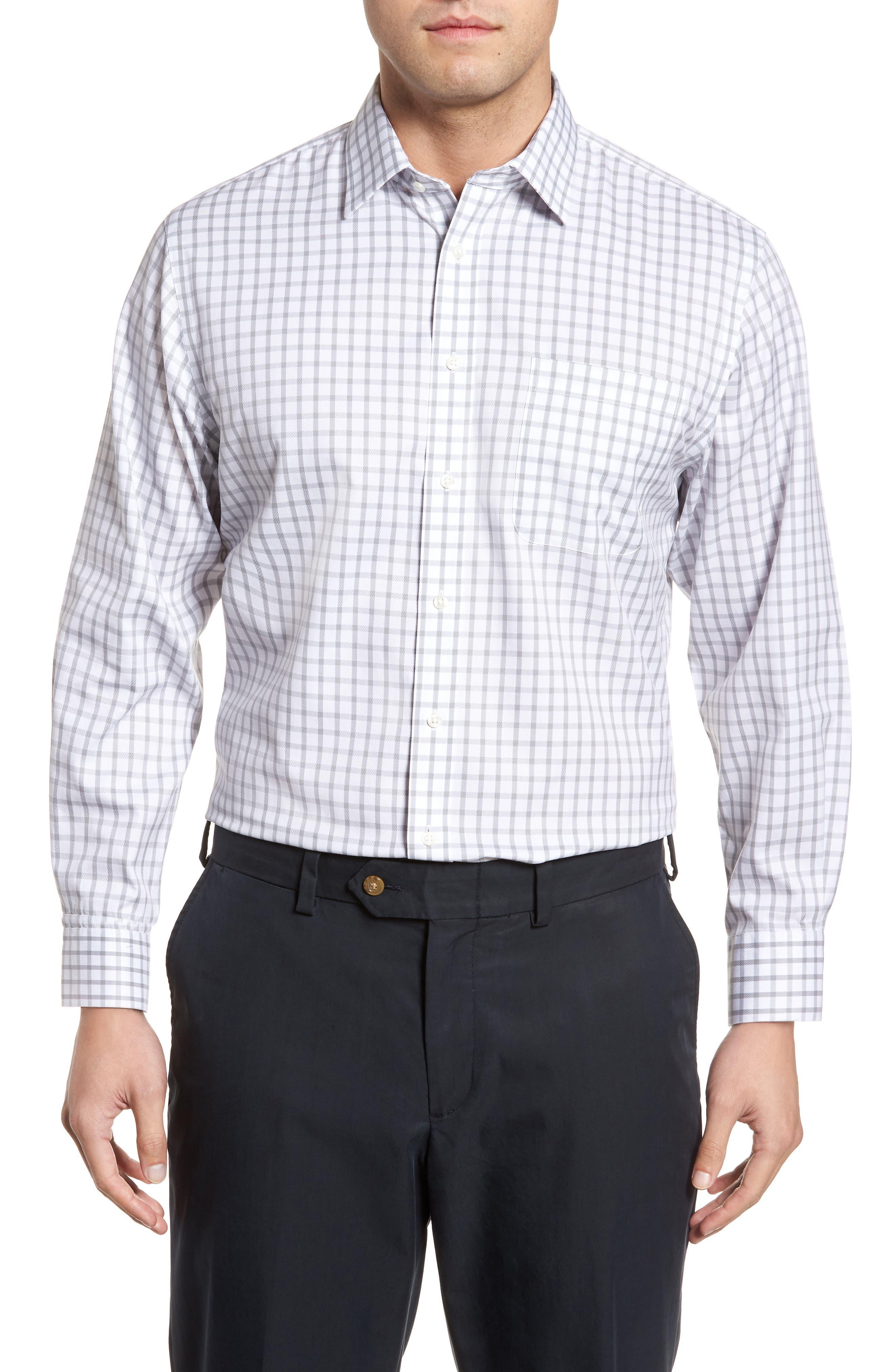 Smartcare<sup>™</sup> Traditional Fit Check Dress Shirt,                         Main,                         color, 050