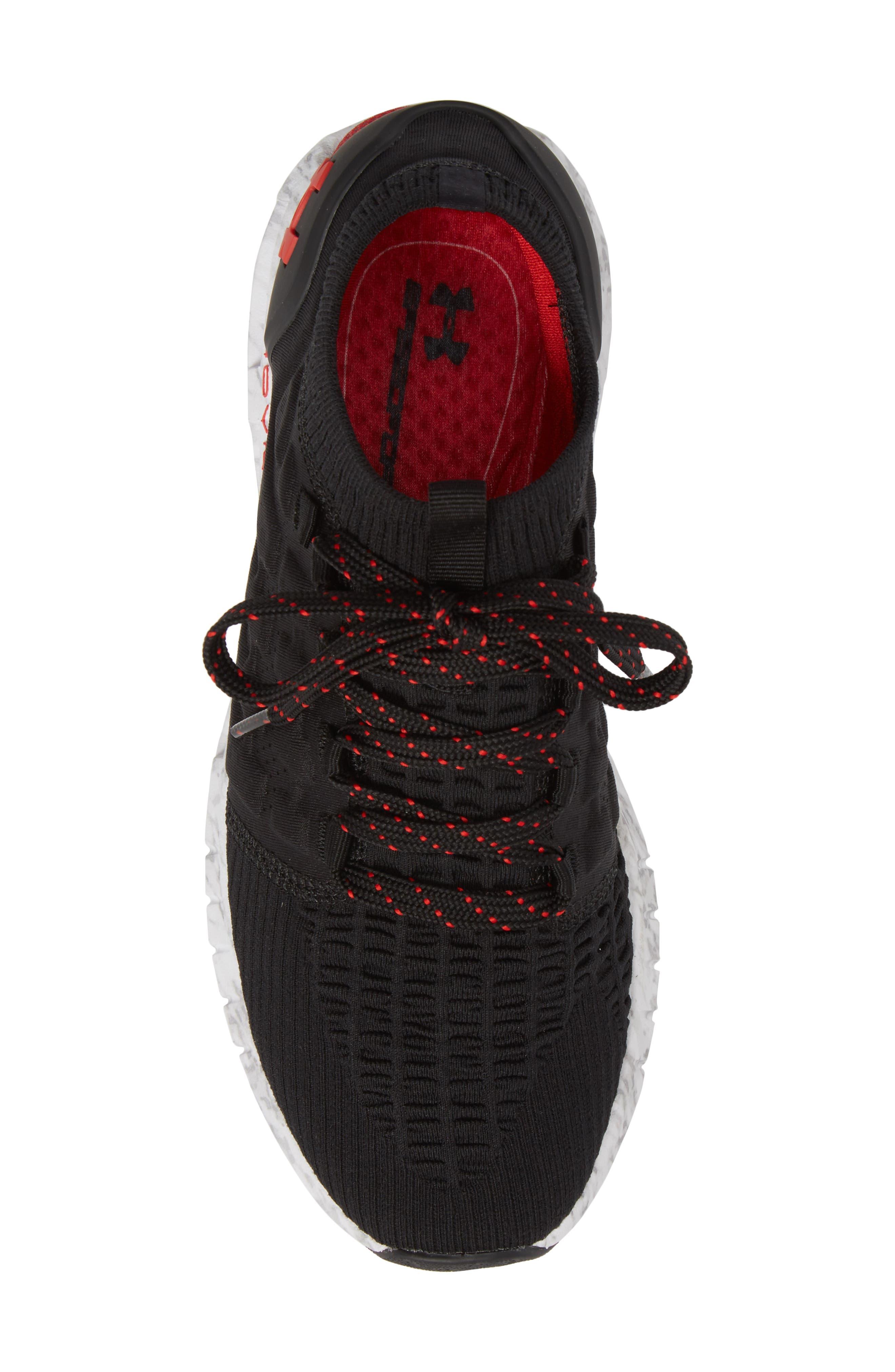 HOVR Phantom NC Sneaker,                             Alternate thumbnail 5, color,                             BLACK/ WHITE/ RED