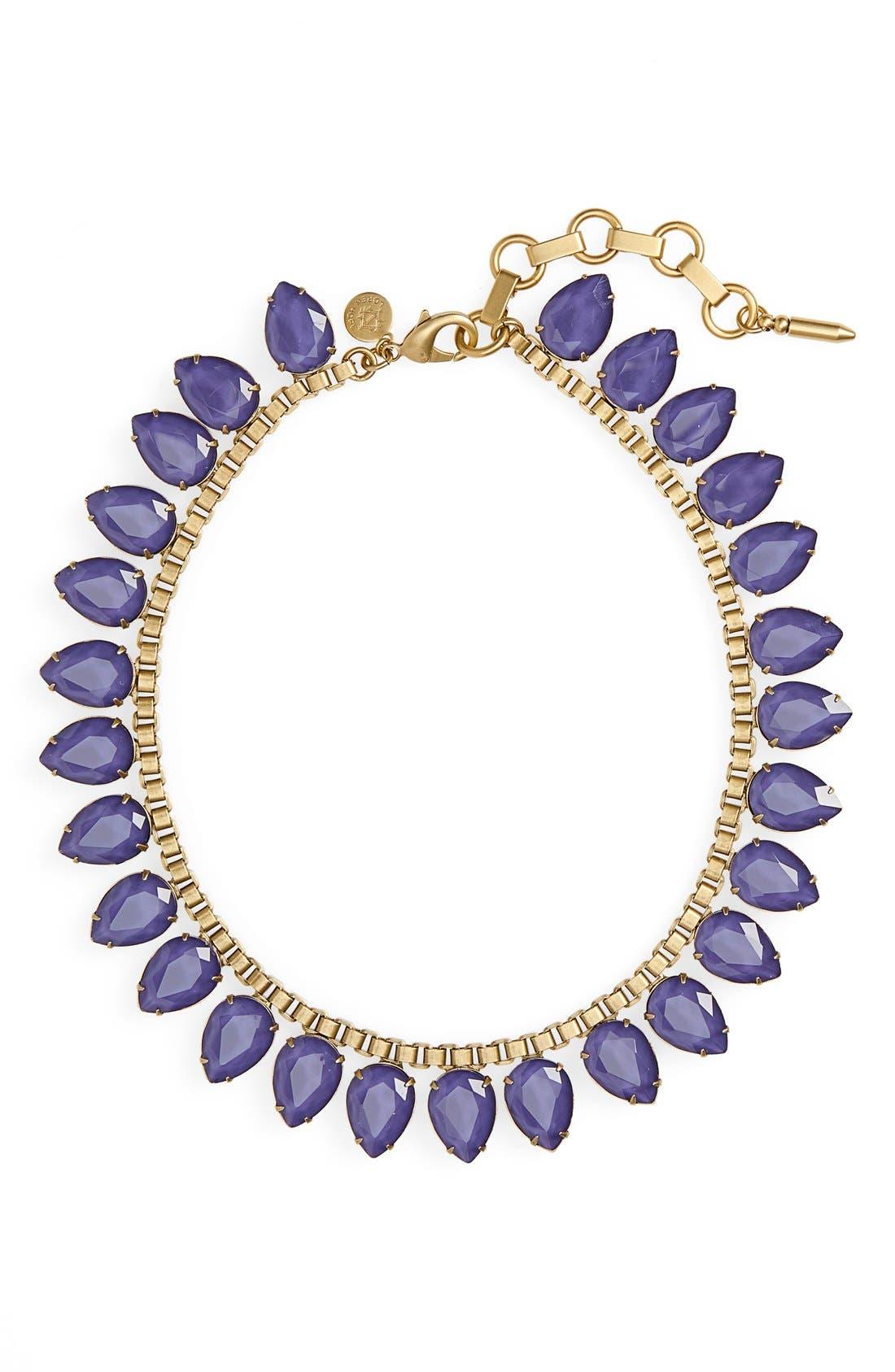 'Sylvia' Crystal Collar Necklace,                             Main thumbnail 6, color,