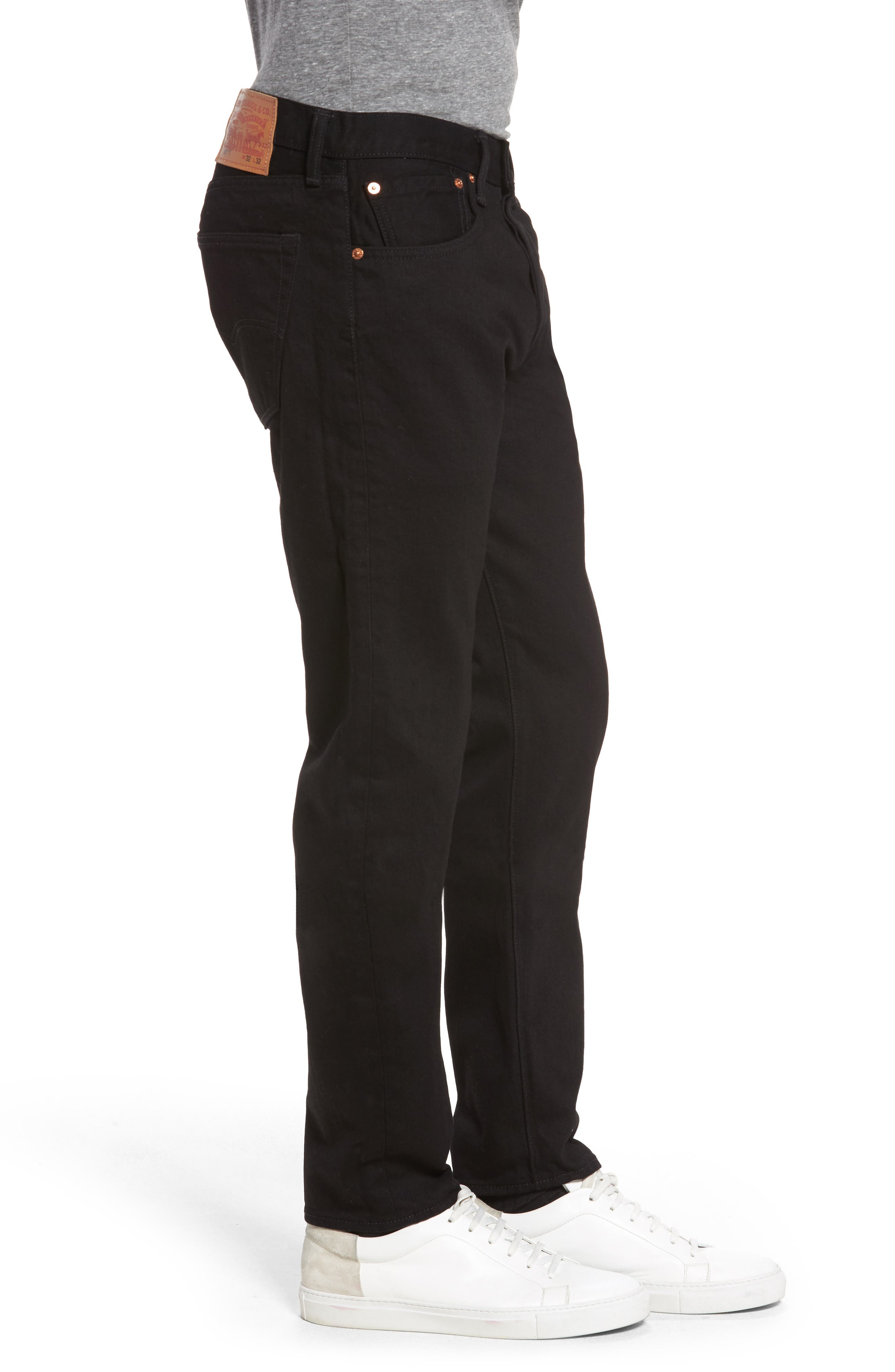 501<sup>™</sup> Slouchy Tapered Slim Fit Jeans,                             Alternate thumbnail 3, color,                             001