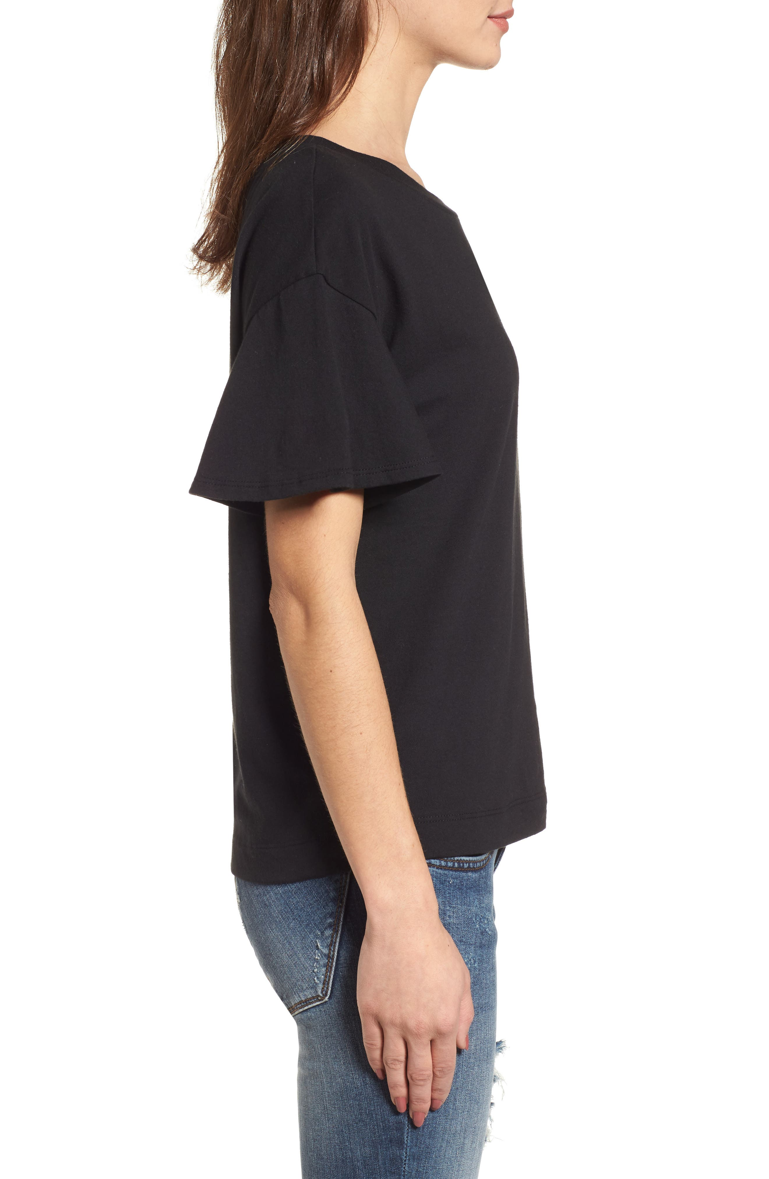 Flutter Sleeve Tee,                             Alternate thumbnail 7, color,