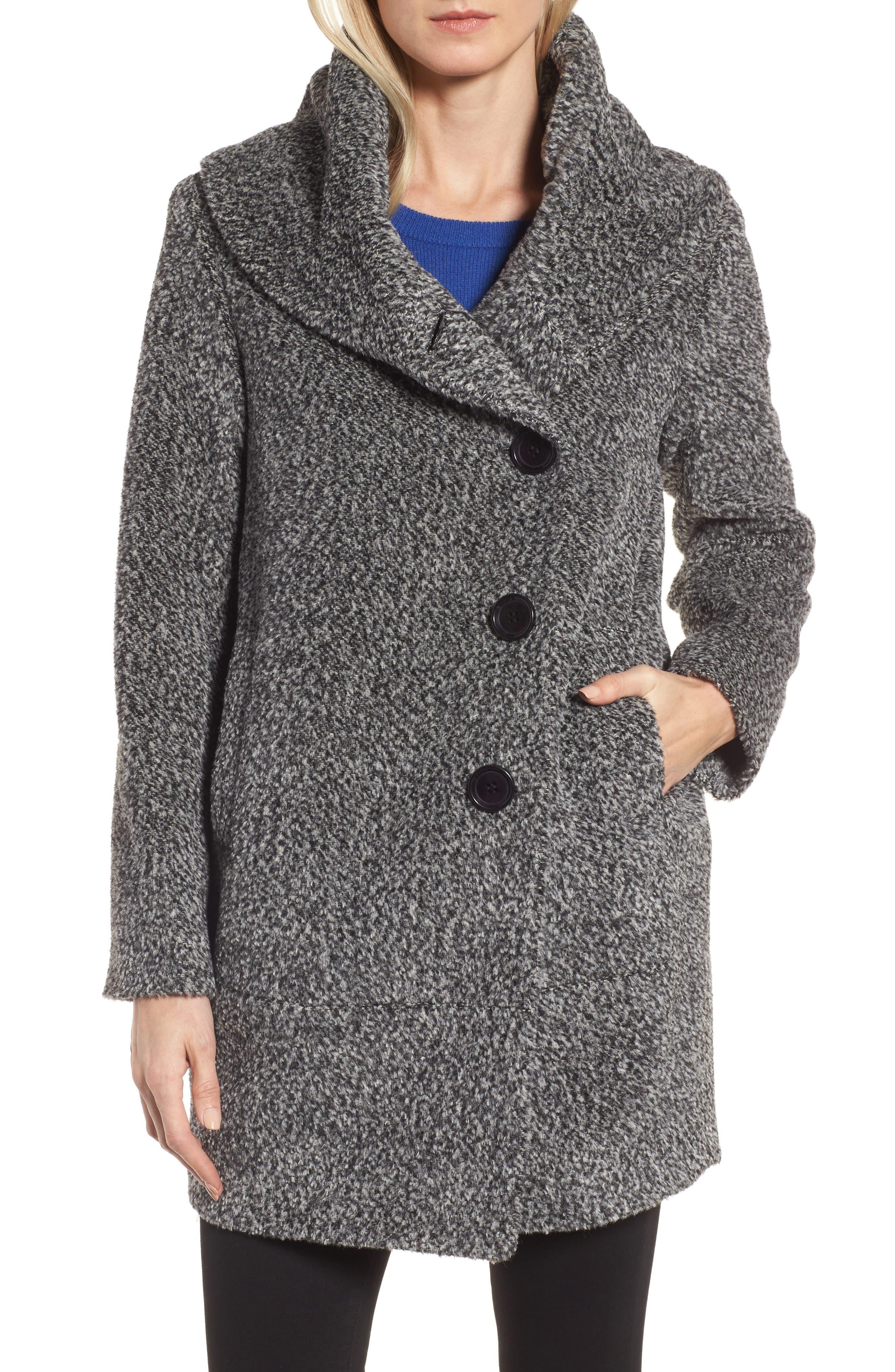 Wool Blend Coat,                         Main,                         color, 011