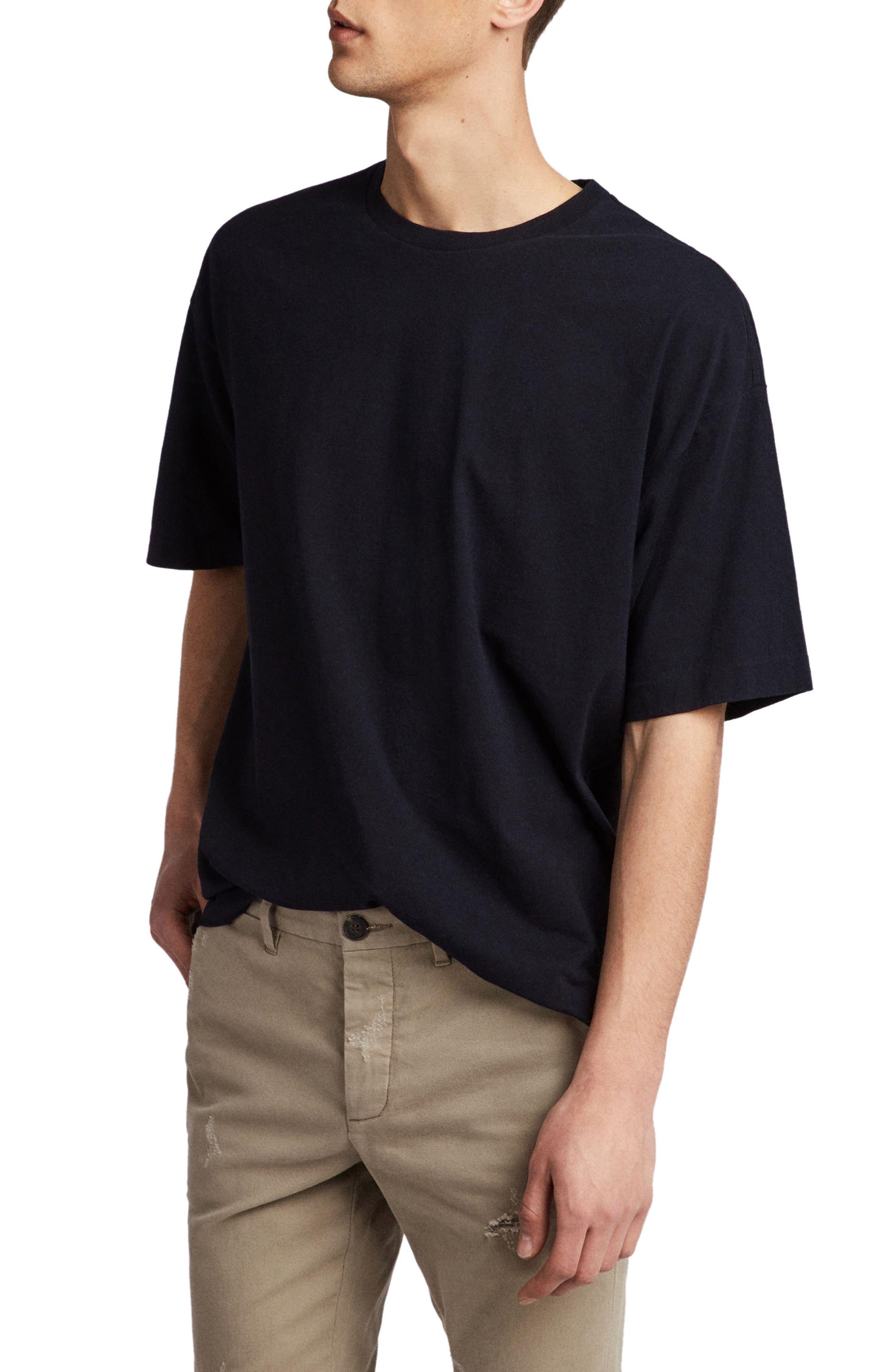 Atnom Crewneck T-Shirt,                             Alternate thumbnail 3, color,                             JET BLACK