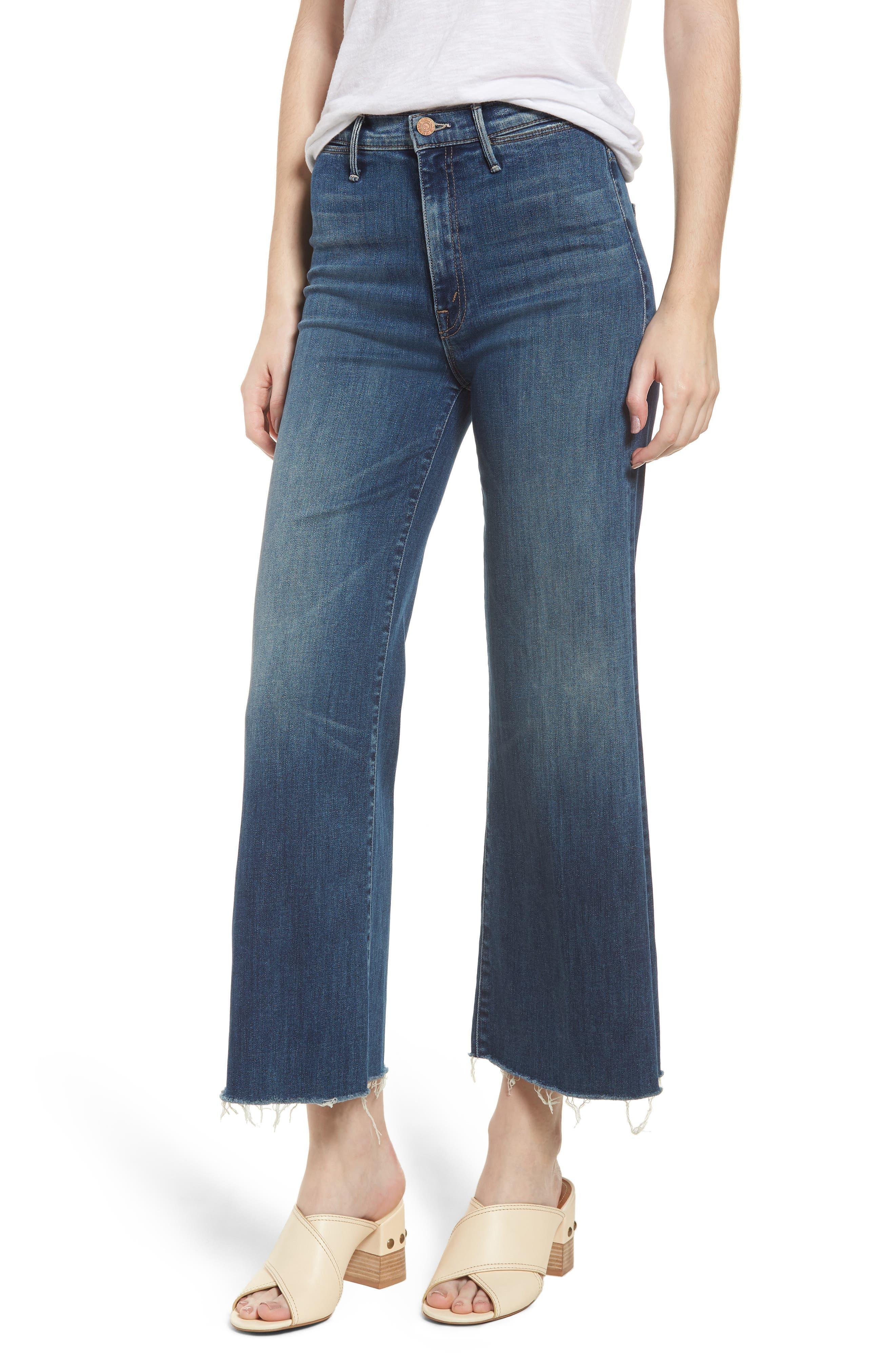 The Swooner High Waist Crop Wide Leg Jeans,                         Main,                         color, 429