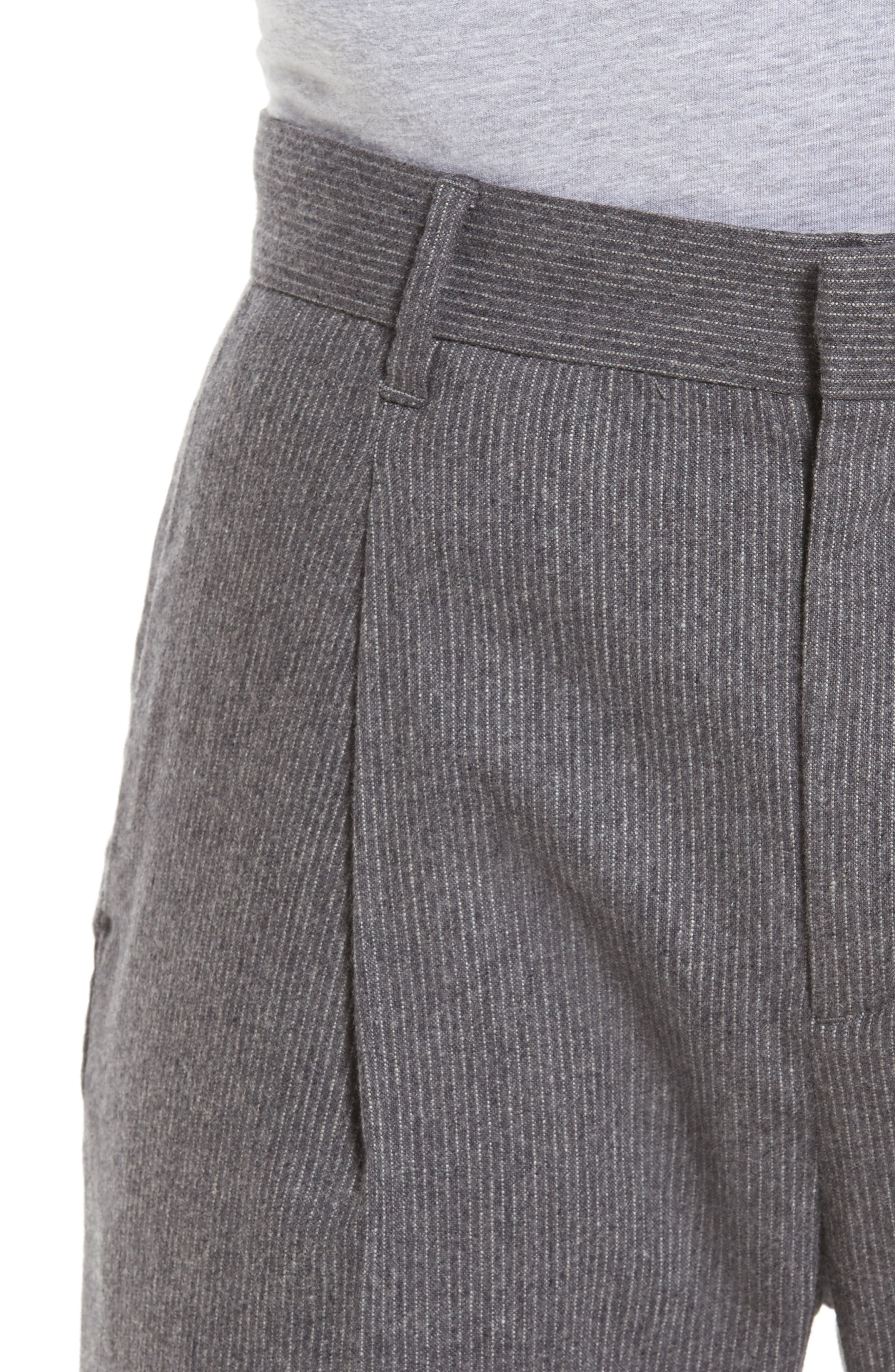 Rushmore Pinstripe Stretch Wool Blend Trousers,                             Alternate thumbnail 4, color,                             020