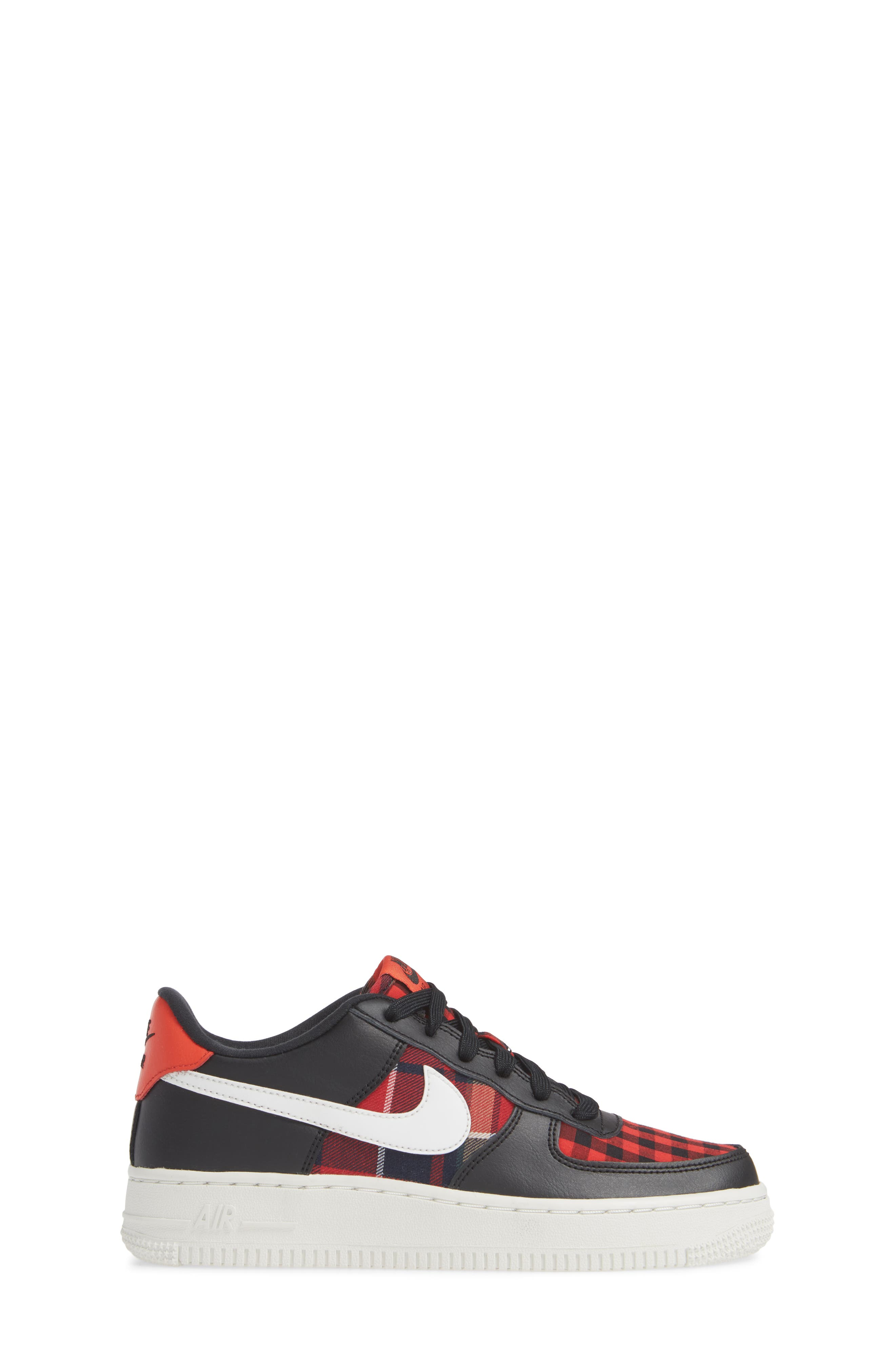 Air Force 1 LV8 Sneaker,                             Alternate thumbnail 3, color,                             BLACK/ SUMMIT RED