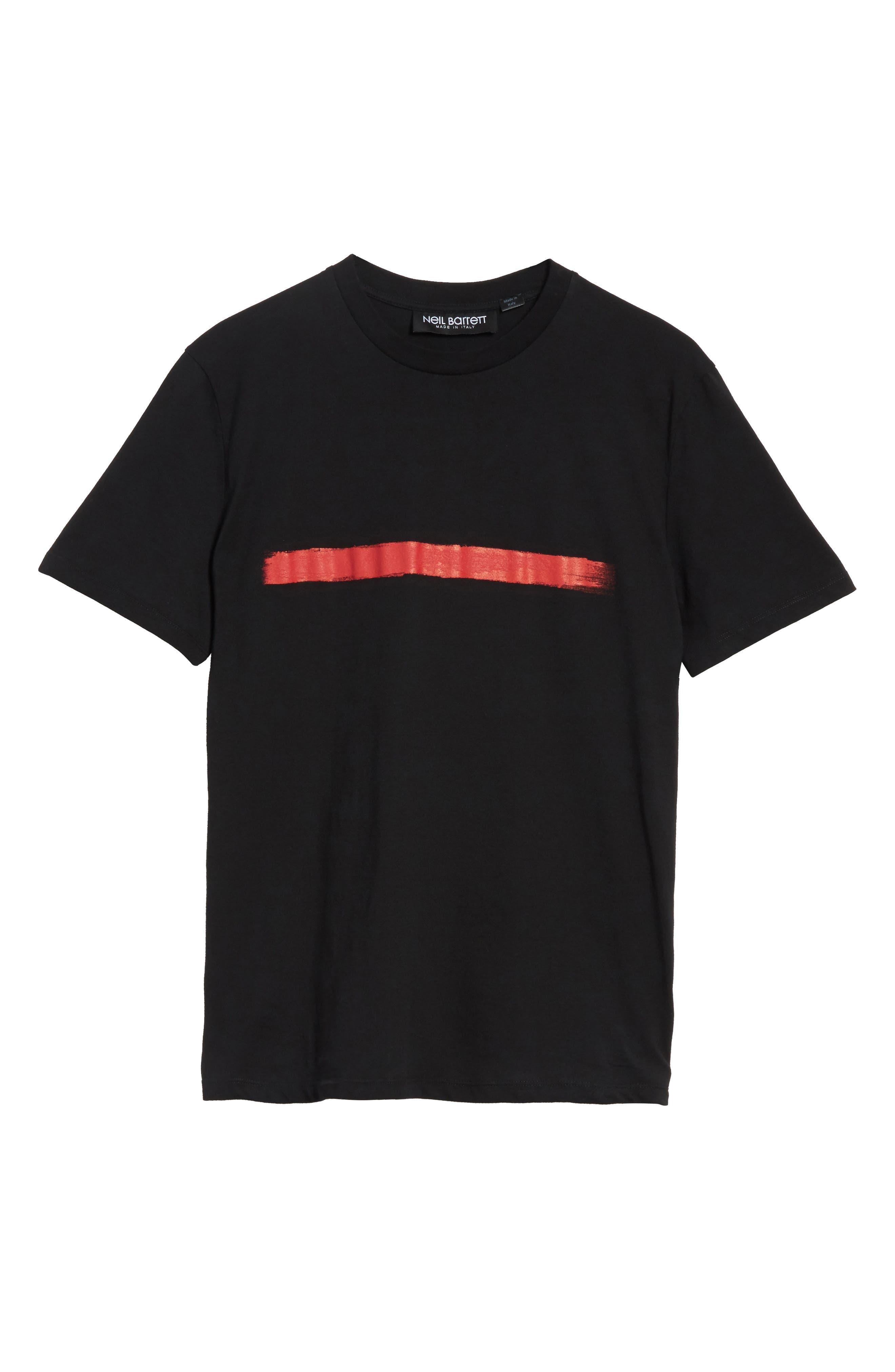 Brush Stroke Graphic T-Shirt,                             Alternate thumbnail 6, color,                             001