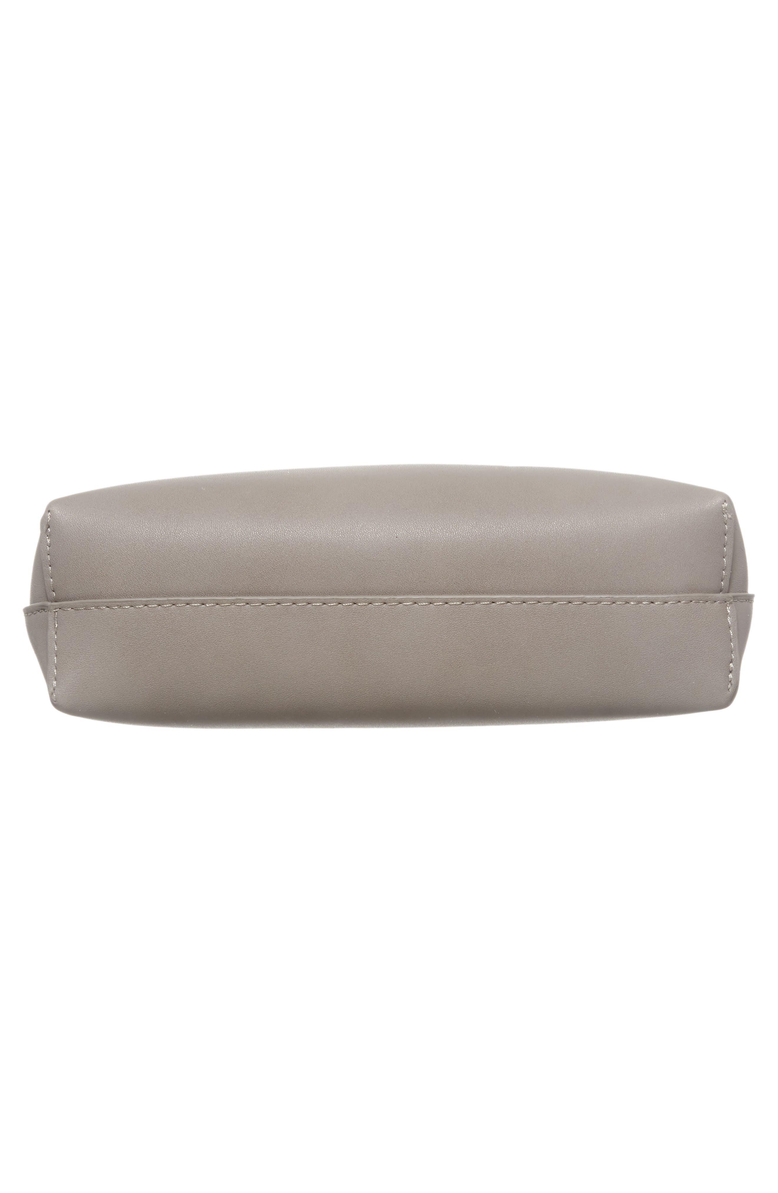 Metal Handle Faux Leather Crossbody Bag,                             Alternate thumbnail 6, color,                             020
