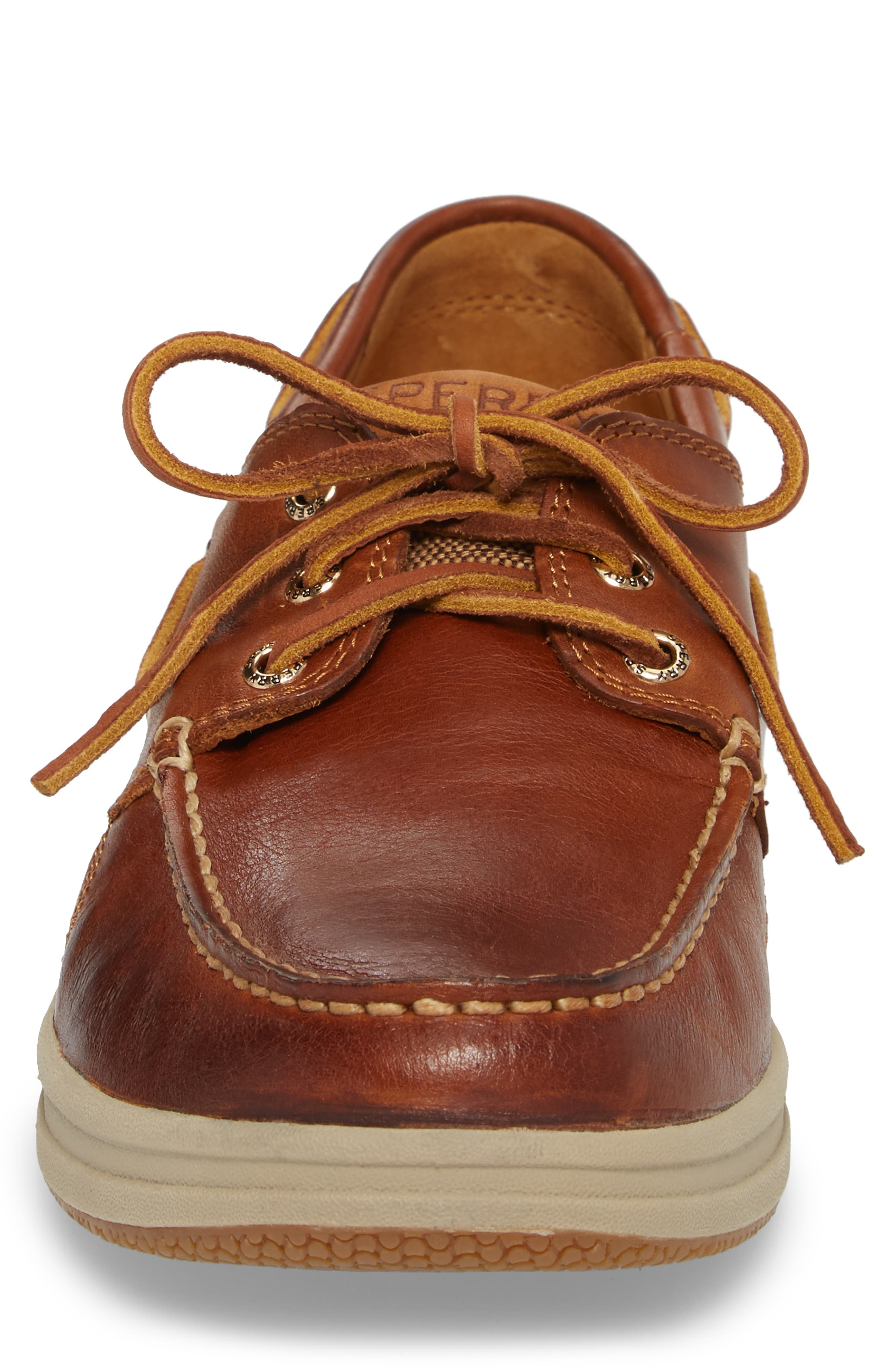 Gold Cup Gamefish Boat Shoe,                             Alternate thumbnail 4, color,                             BROWN LEATHER
