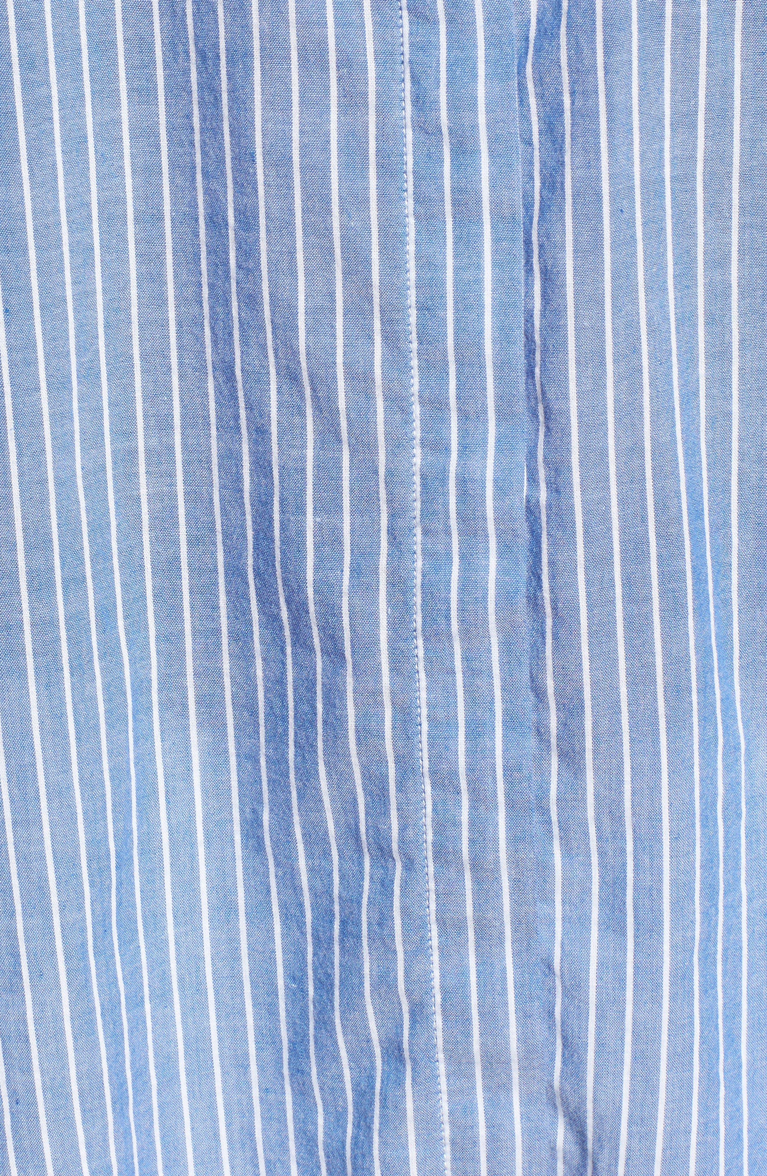 Mimi Stripe Shirt,                             Alternate thumbnail 5, color,                             494