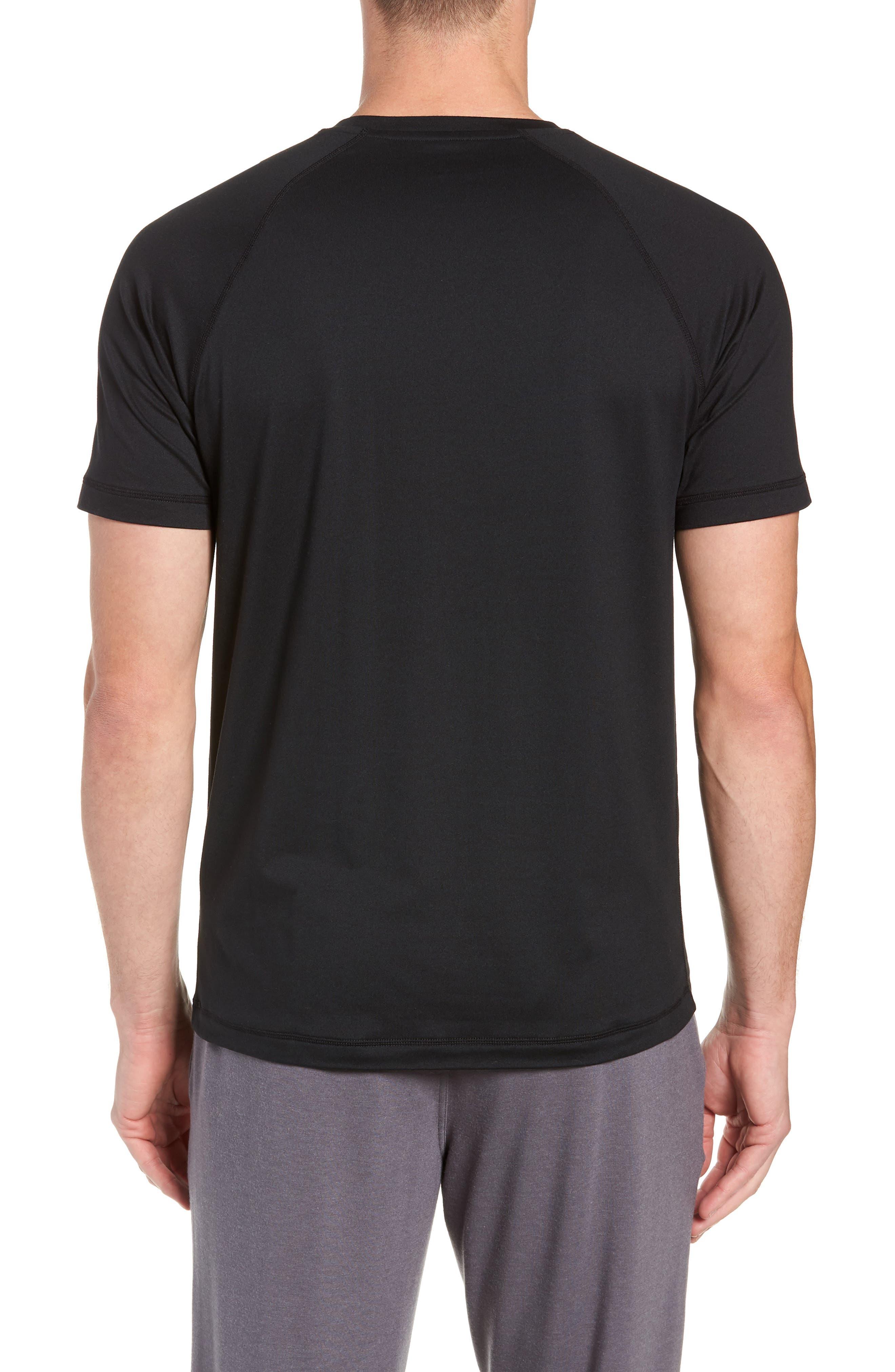 Reign Performance T-Shirt,                             Alternate thumbnail 2, color,                             BLACK