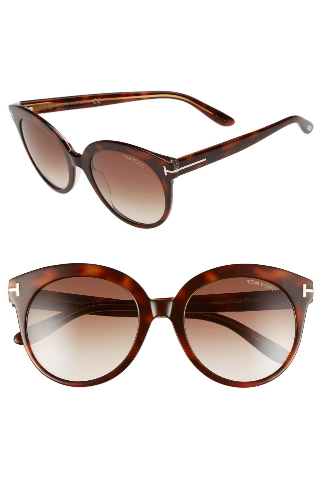 'Monica' 54mm Retro Sunglasses,                             Main thumbnail 3, color,