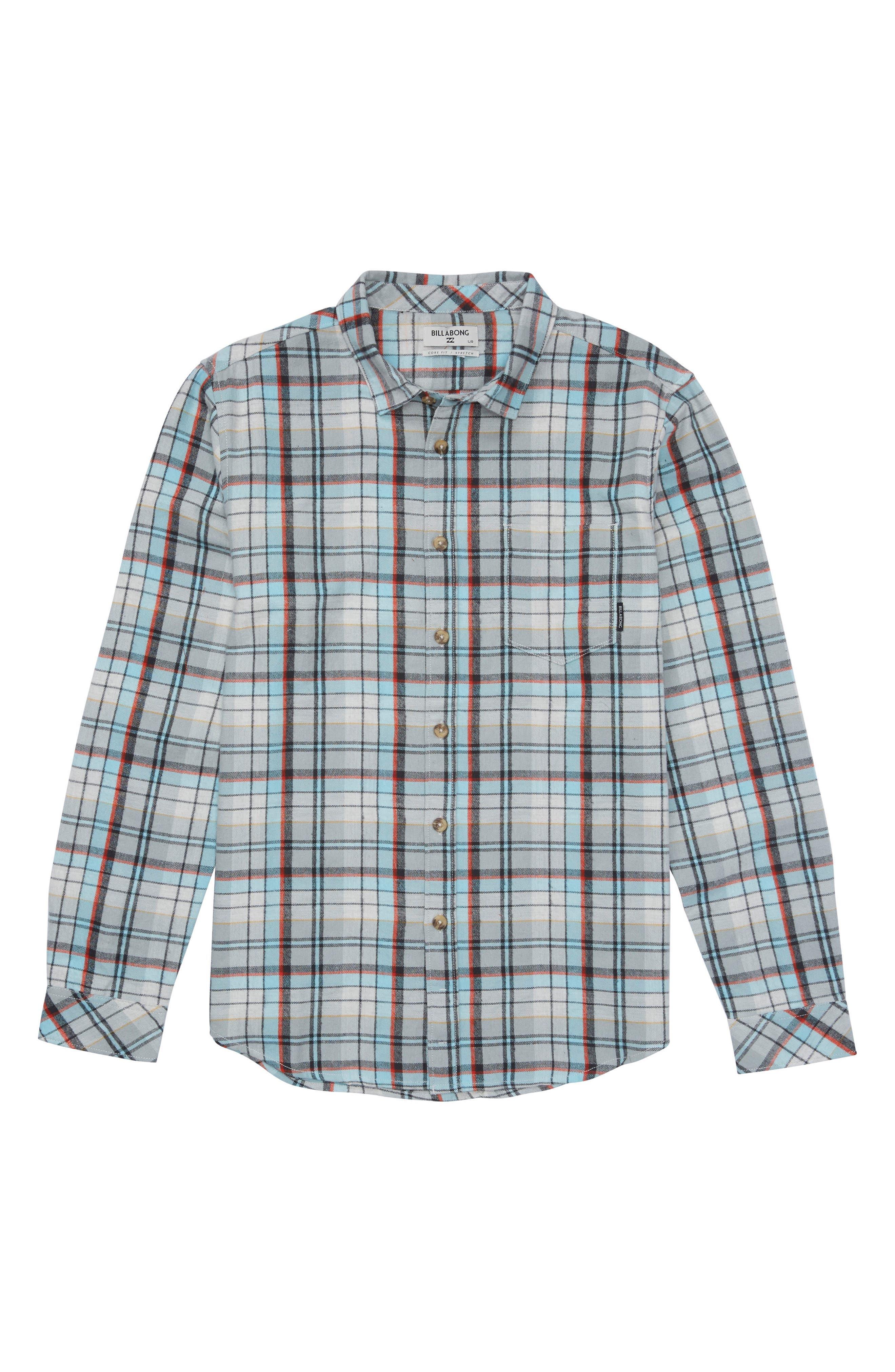 Coastline Plaid Flannel Shirt,                             Main thumbnail 2, color,