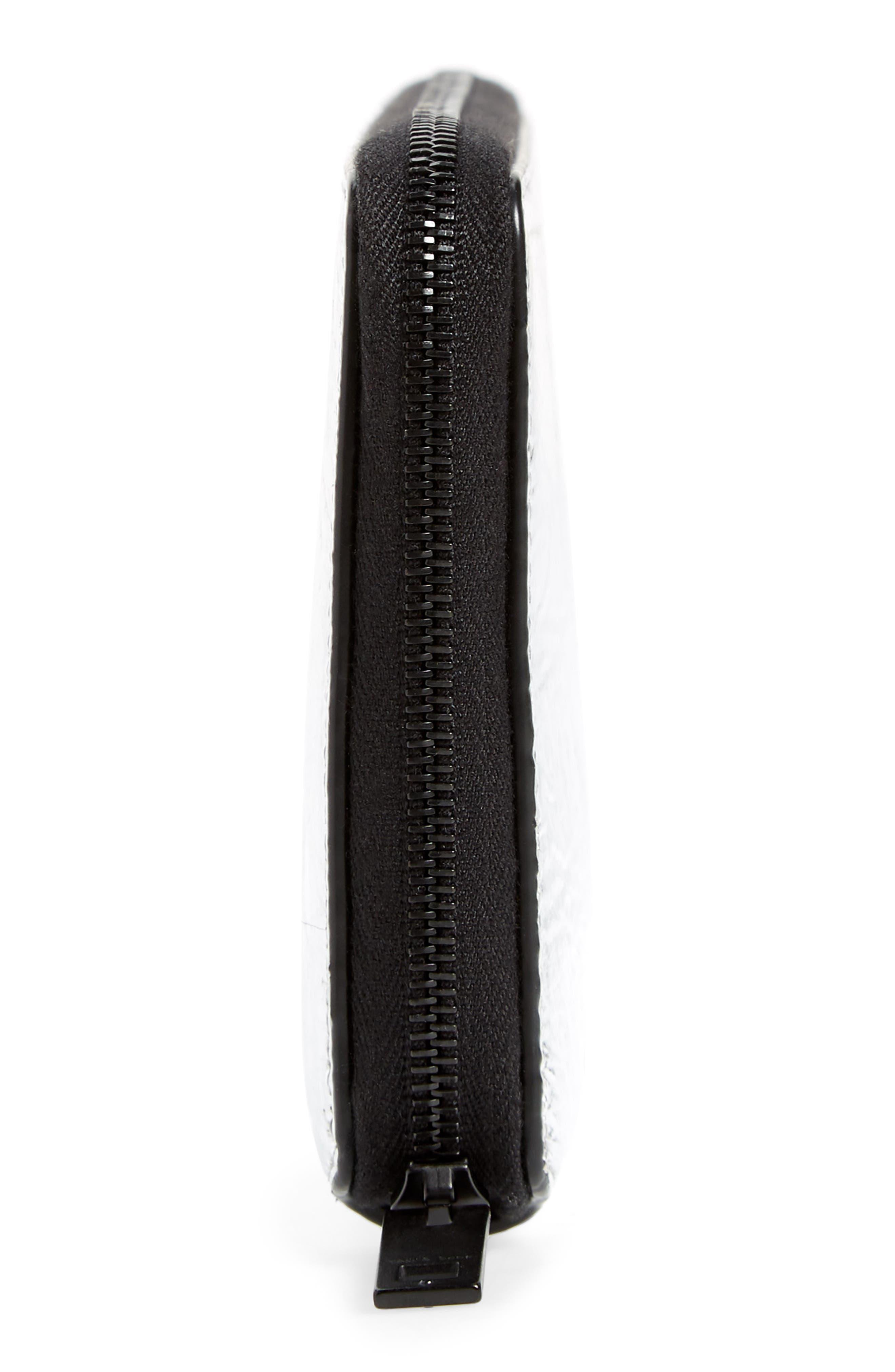 Croc Metallic Lambskin Leather Wallet,                             Alternate thumbnail 5, color,
